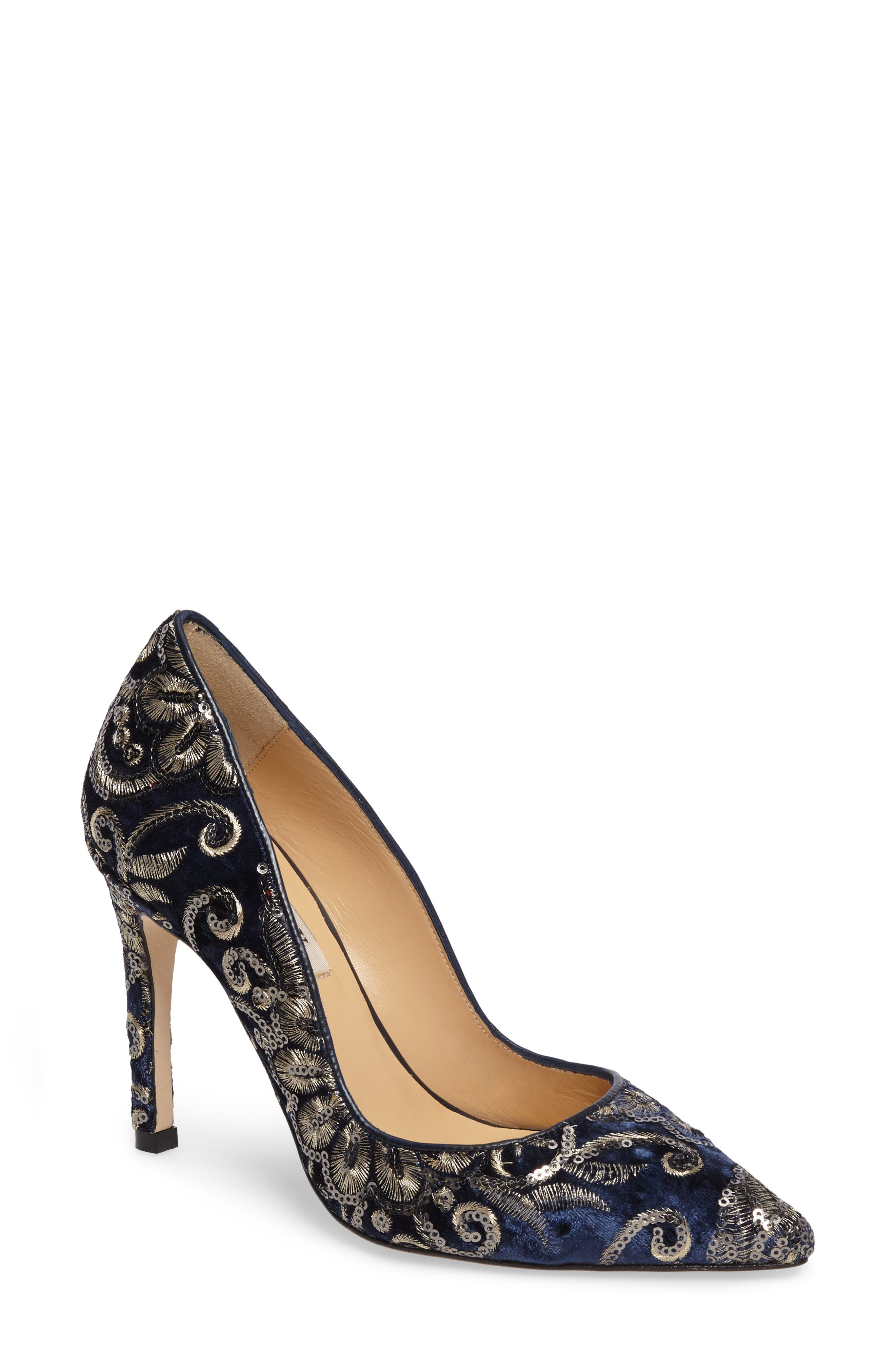 Alternate Image 1 Selected - Badgley Mischka Marilou Pointy Toe Pump (Women)