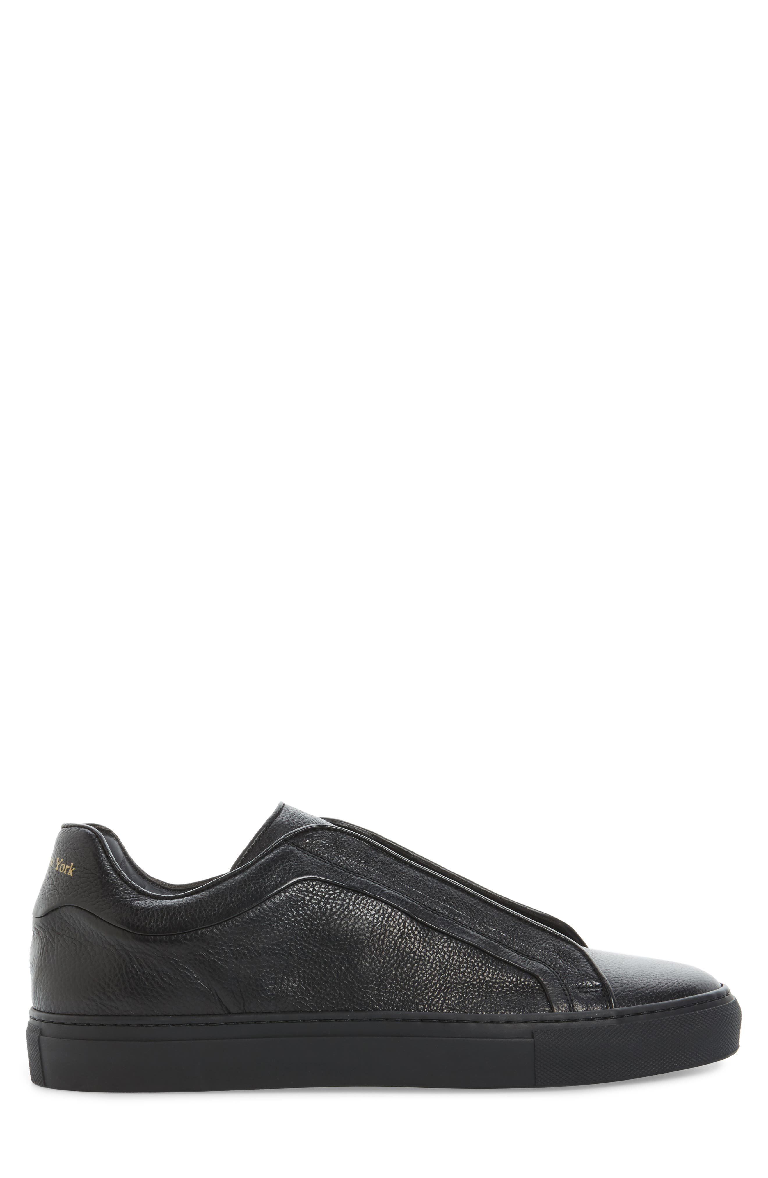Cliff Sneaker,                             Alternate thumbnail 3, color,                             Black Leather