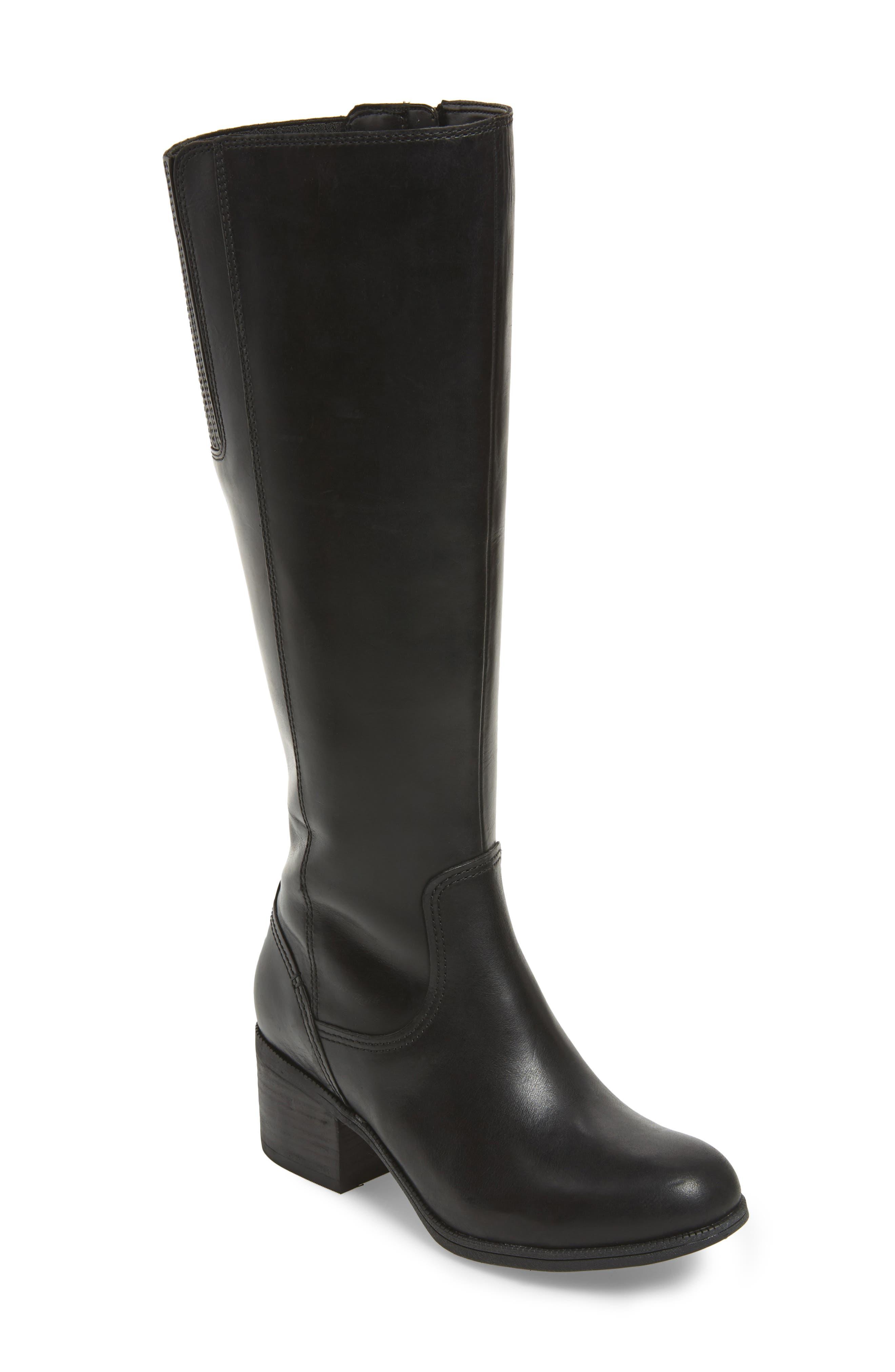 Maypearl Viola Boot,                             Main thumbnail 1, color,                             Black Leather