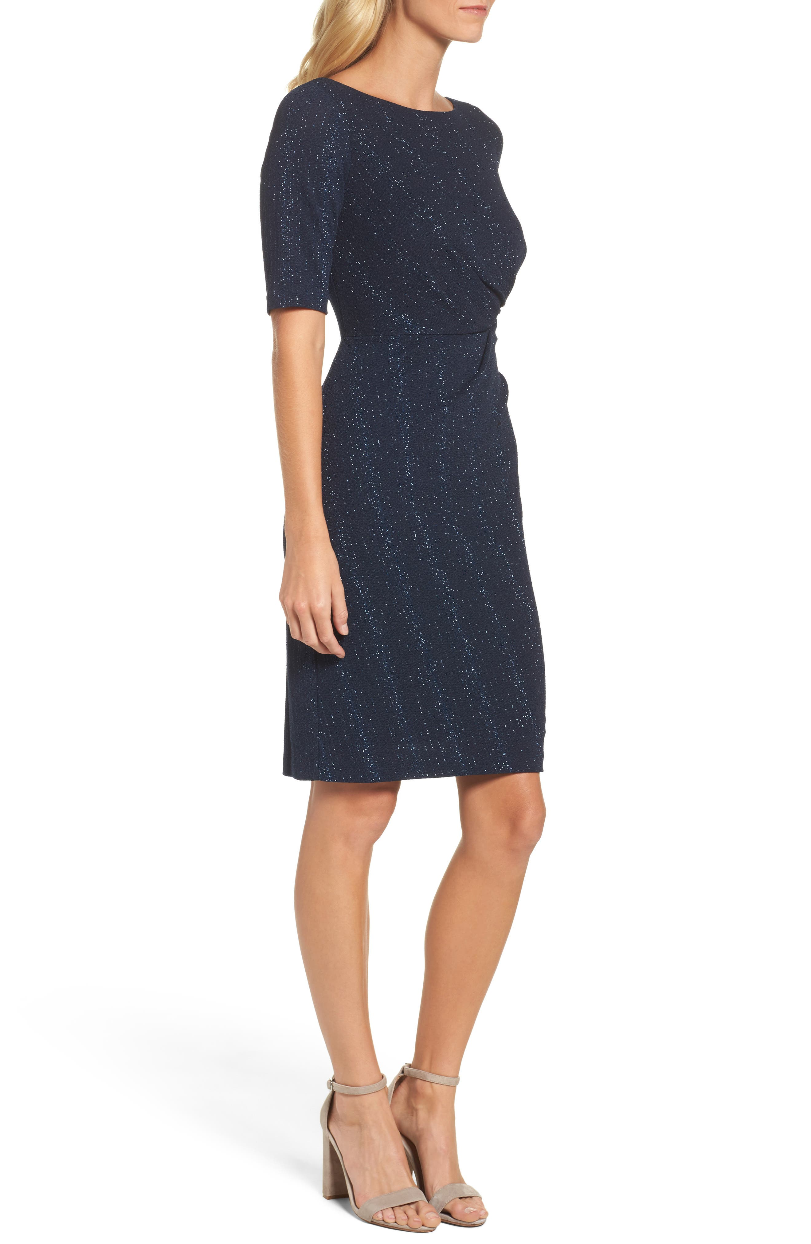 Alternate Image 3  - Adrianna Papell Glitter Knit Sheath Dress