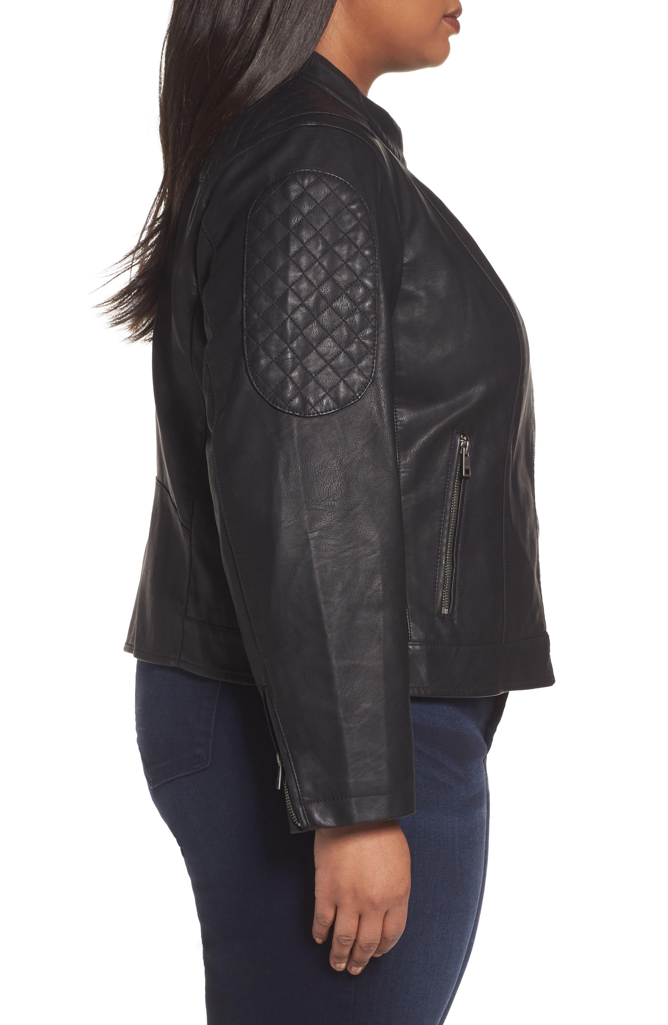 Alternate Image 3  - LEVIS® Faux Leather Moto Jacket