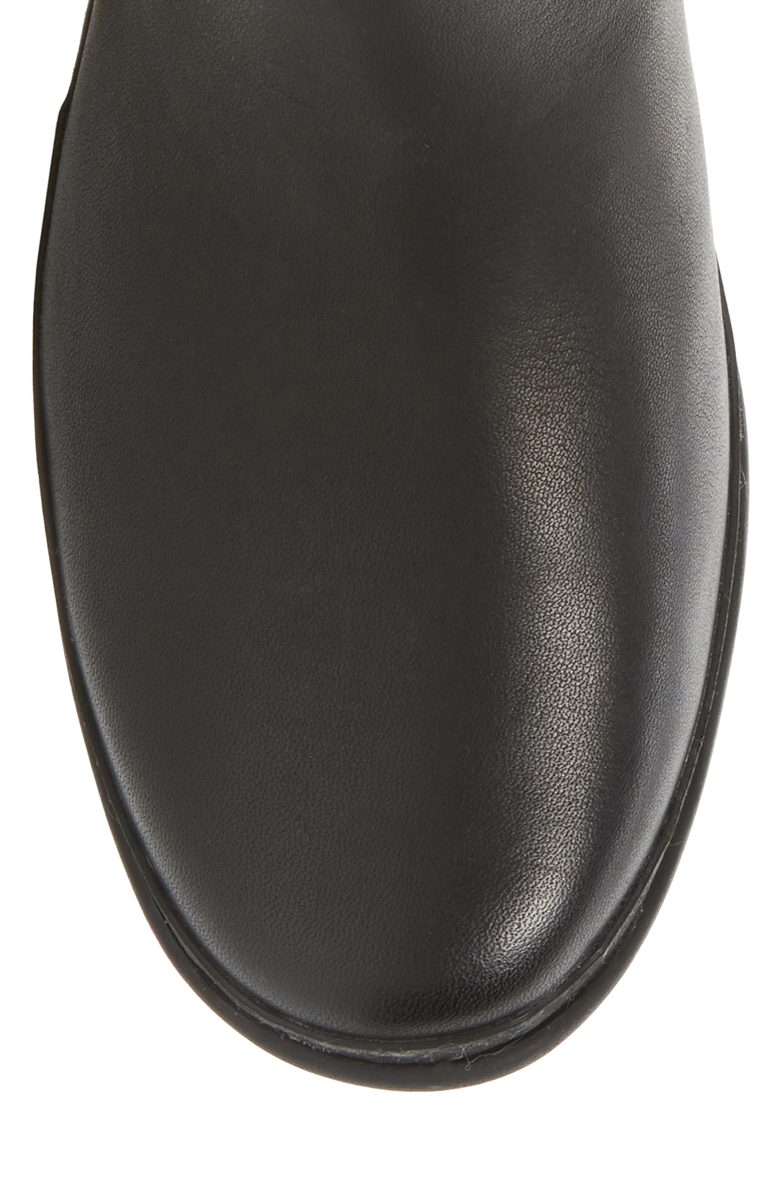 Janina Rain Boot,                             Alternate thumbnail 5, color,                             Black Leather