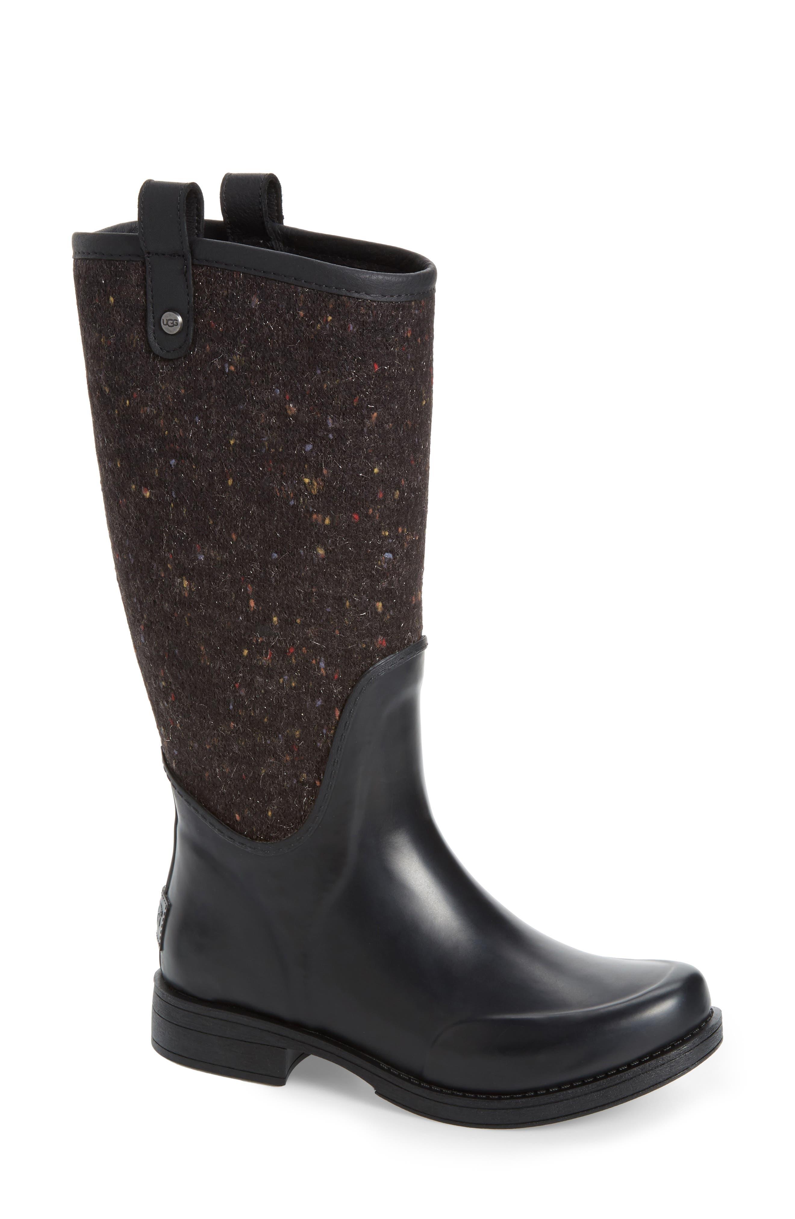 Stefana Rain Boot,                         Main,                         color, Black