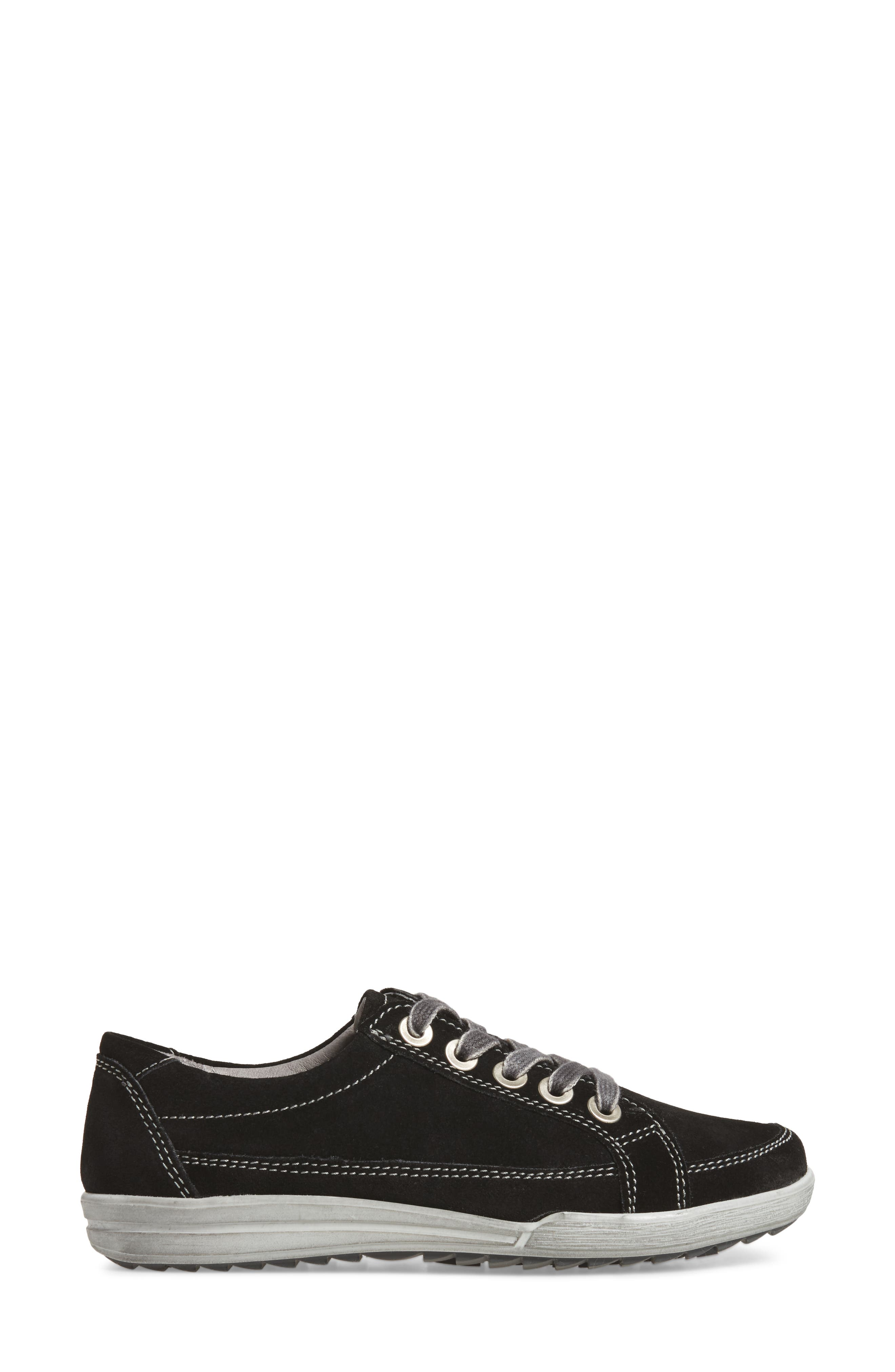 Dany 57 Sneaker,                             Alternate thumbnail 3, color,                             Black Leather