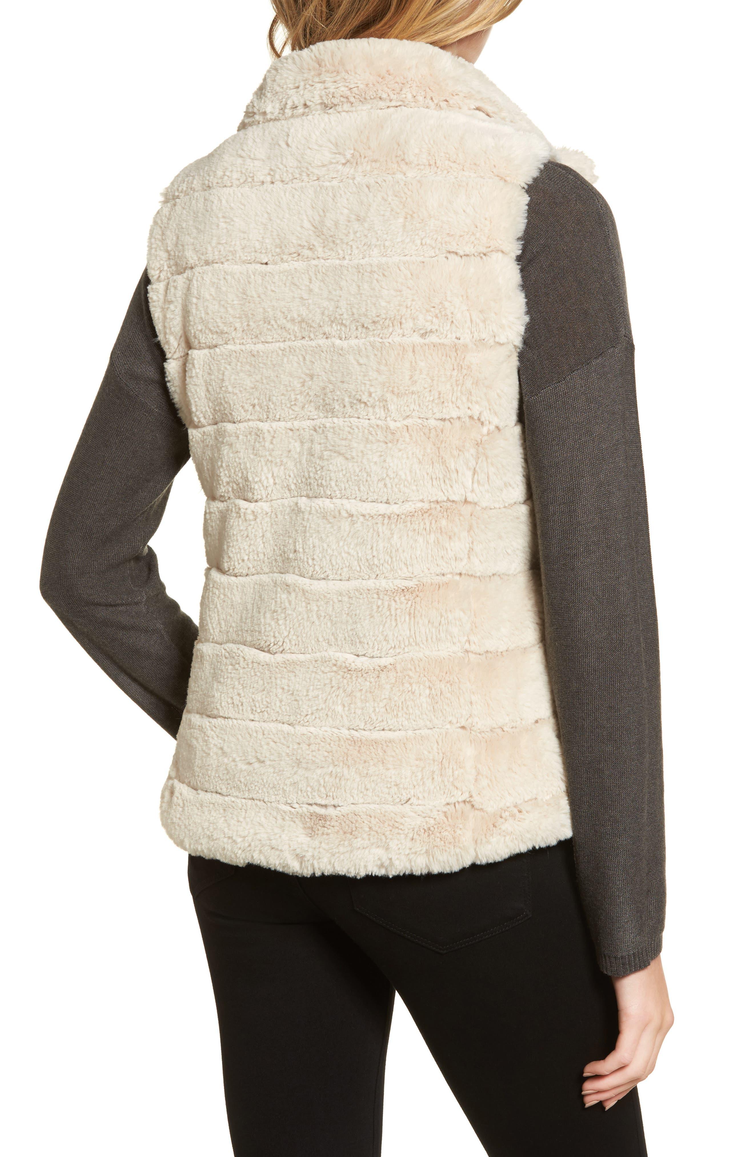 Love Faux Fur Vest,                             Alternate thumbnail 2, color,                             Ivory