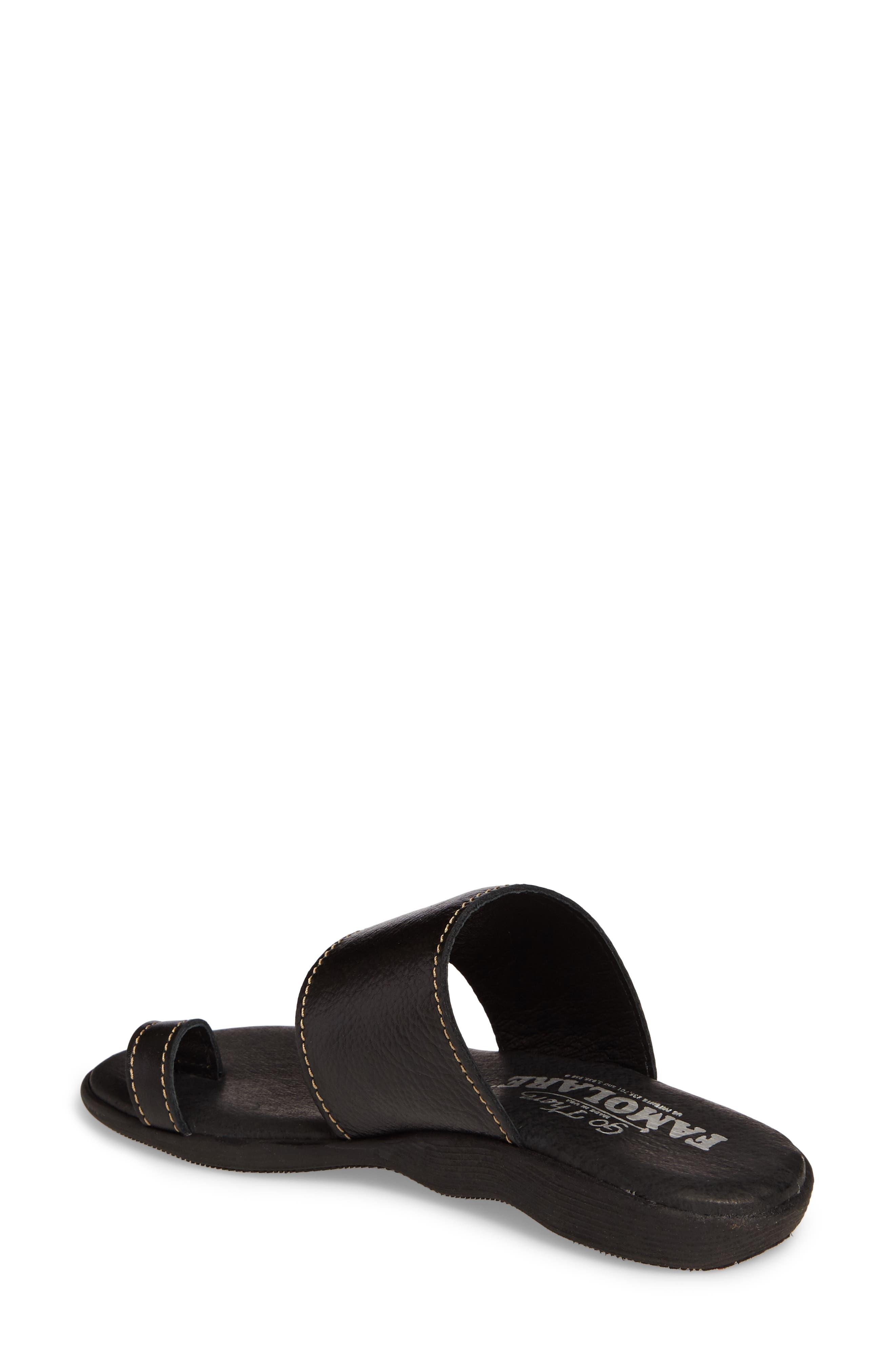 Band & Deliver Toe Loop Slide Sandal,                             Alternate thumbnail 2, color,                             Coal Leather