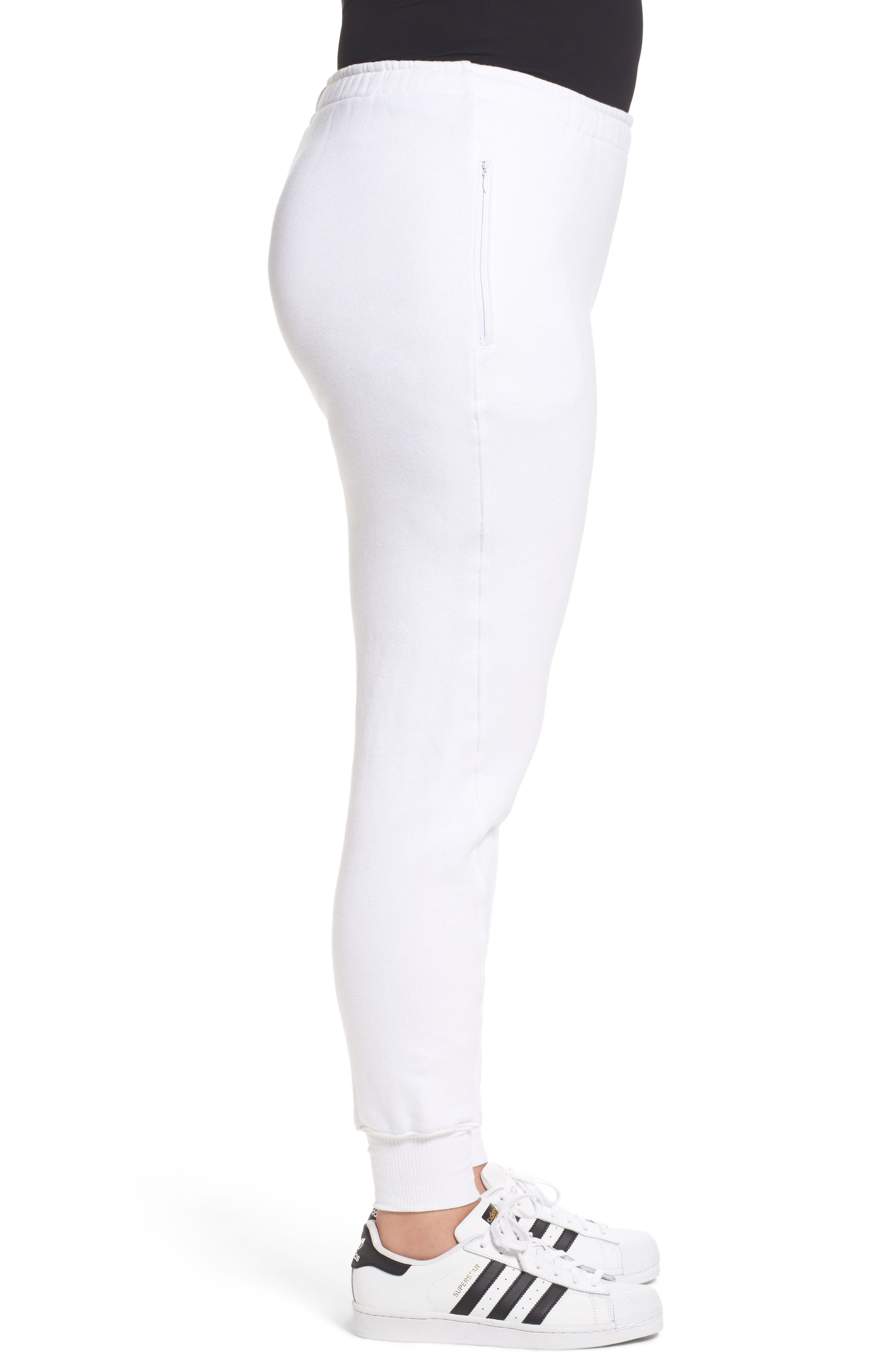 Good Sweats The Twisted Seam Pants,                             Alternate thumbnail 7, color,                             Off White