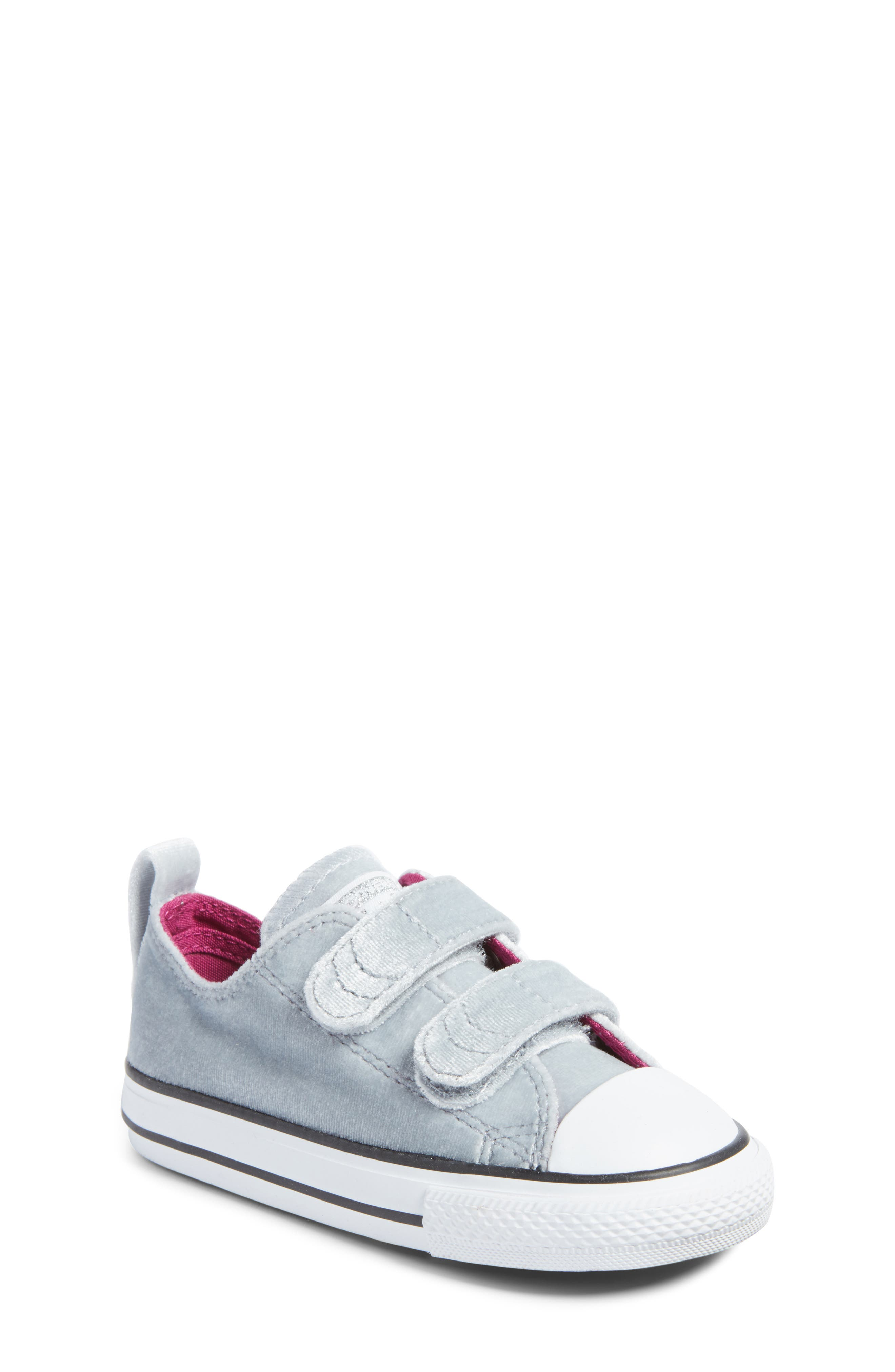 converse kids shoes. converse chuck taylor® all star® 2v velvet low top sneaker (baby, walker kids shoes