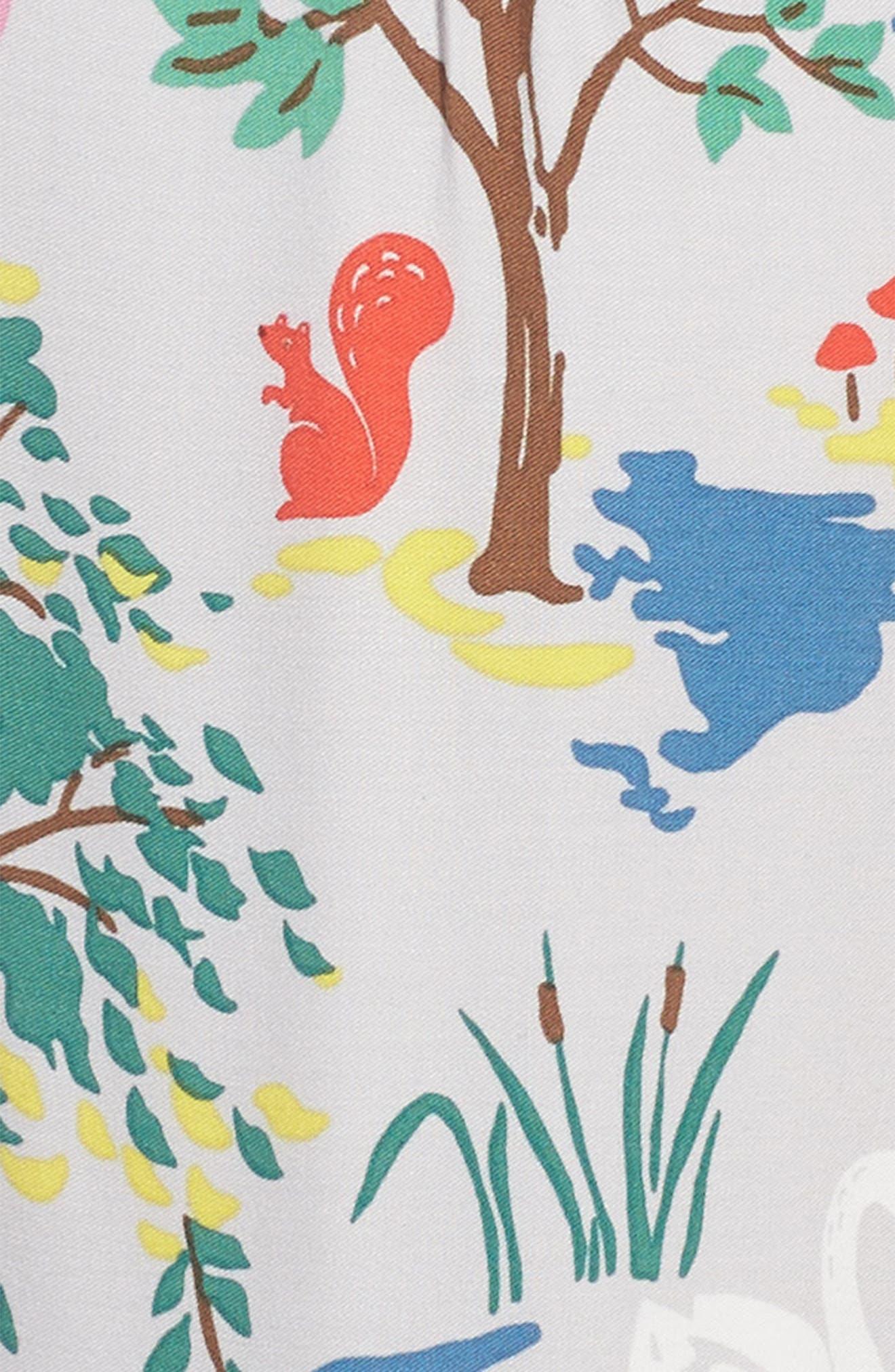 Print Tea Dress,                             Alternate thumbnail 3, color,                             Grey Autumn
