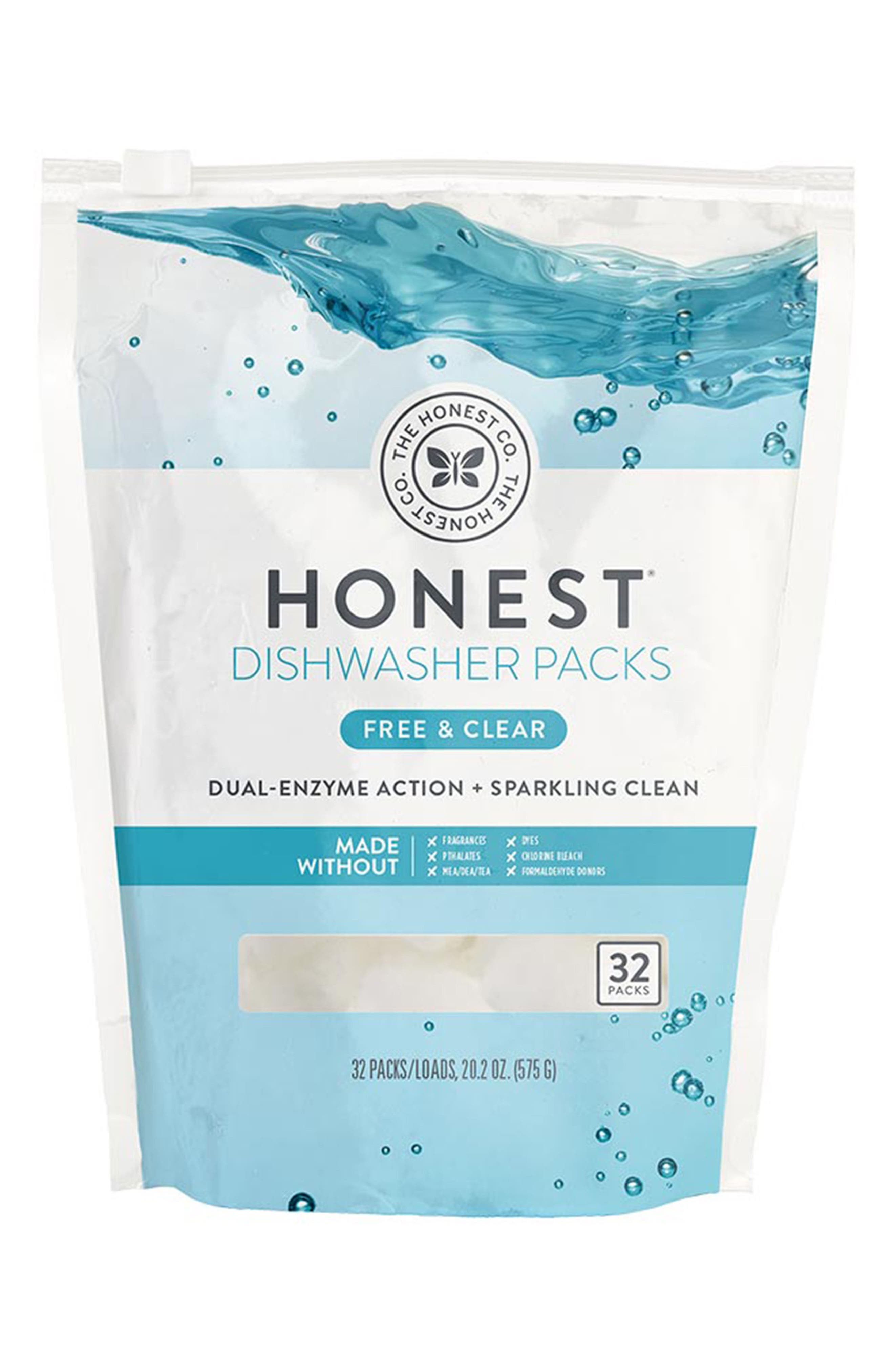 Free & Clear Dishwasher Packs,                             Main thumbnail 1, color,                             Free/ Clear