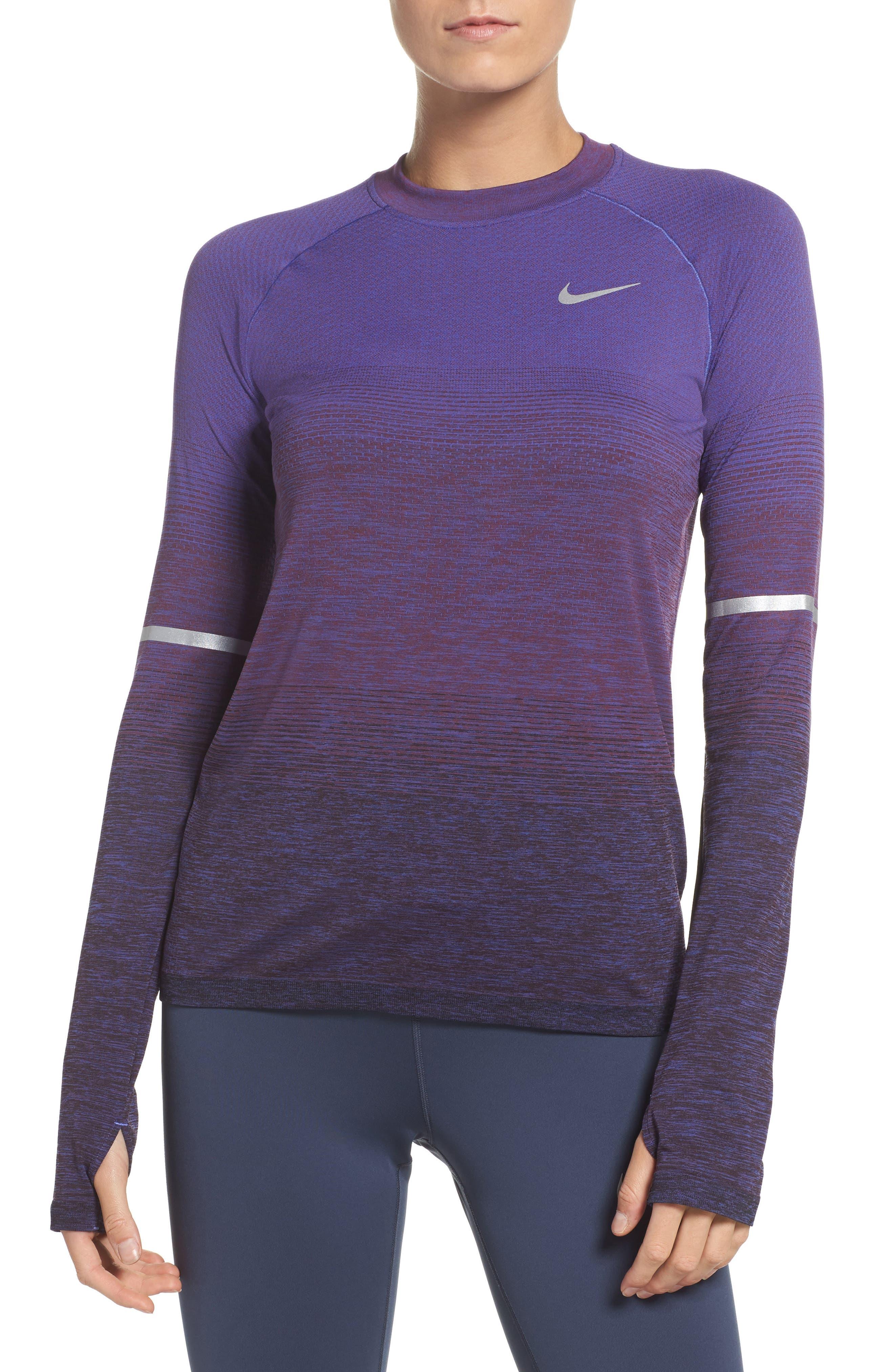 Alternate Image 1 Selected - Nike Breathe Running Top