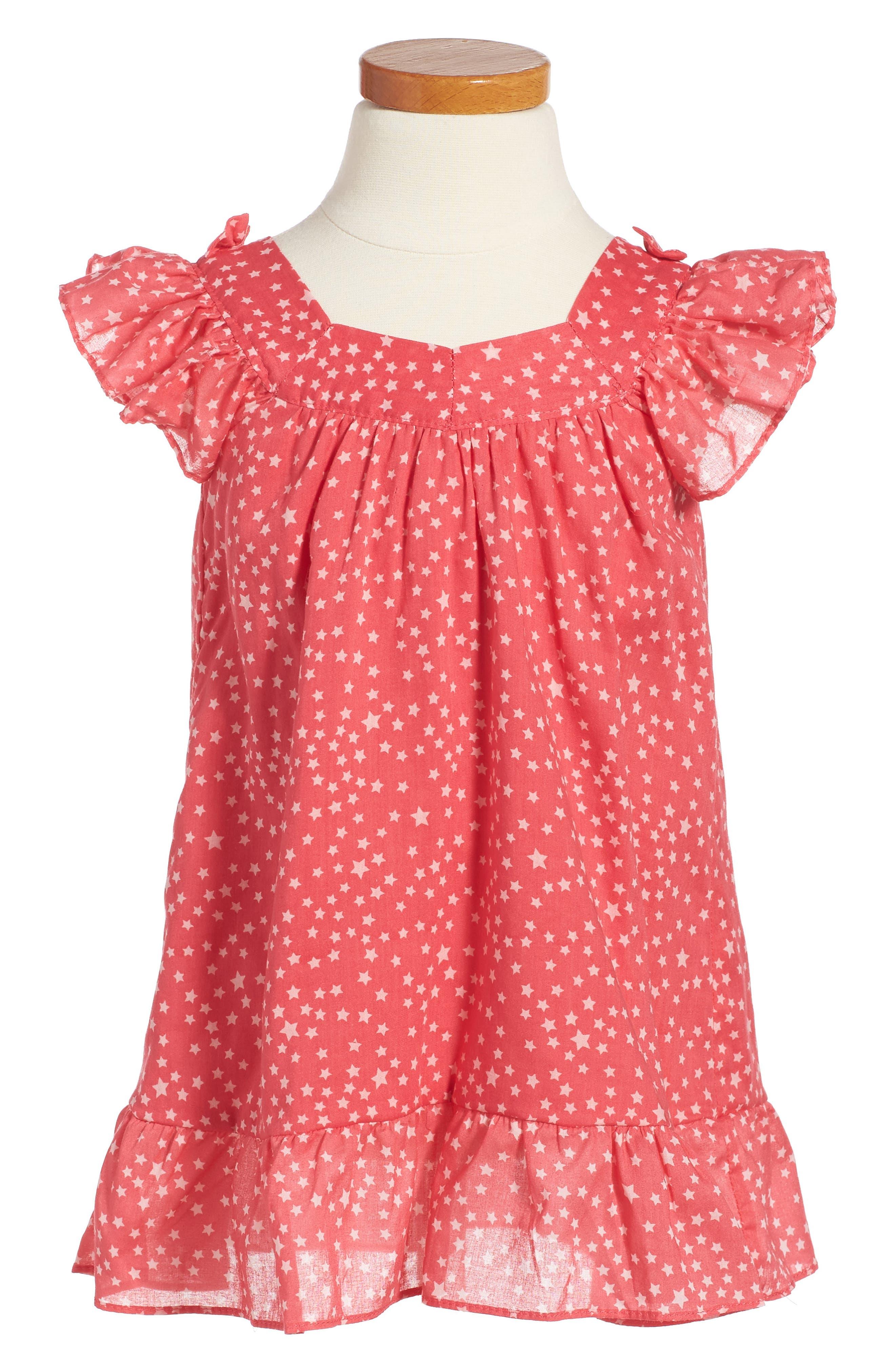 For Love & Lemons Starlight Print Ruffle Dress (Toddler Girls & Little Girls)