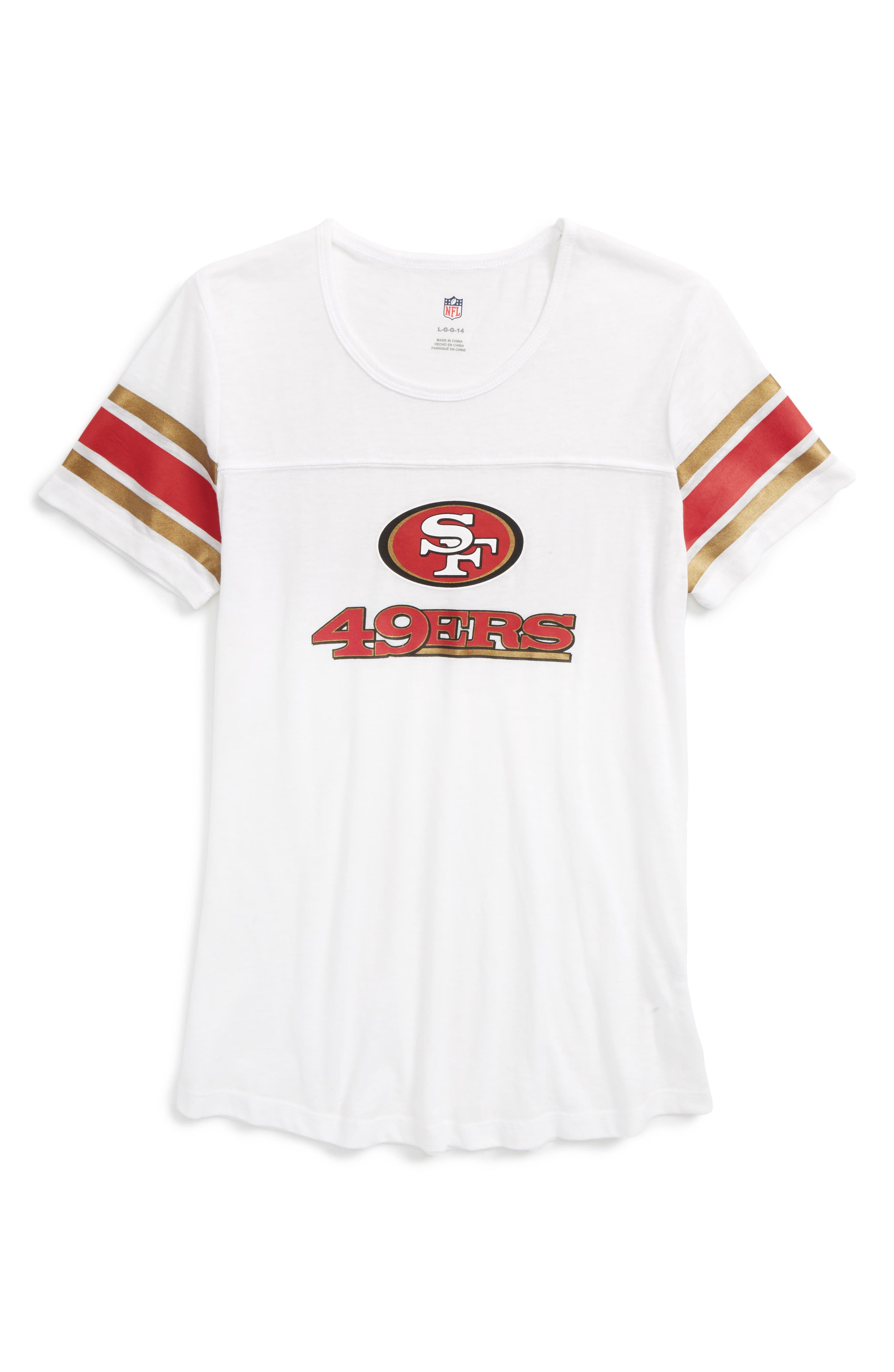 Main Image - Outerstuff NFL San Francisco 49ers Team Pride Tee (Big Girls)