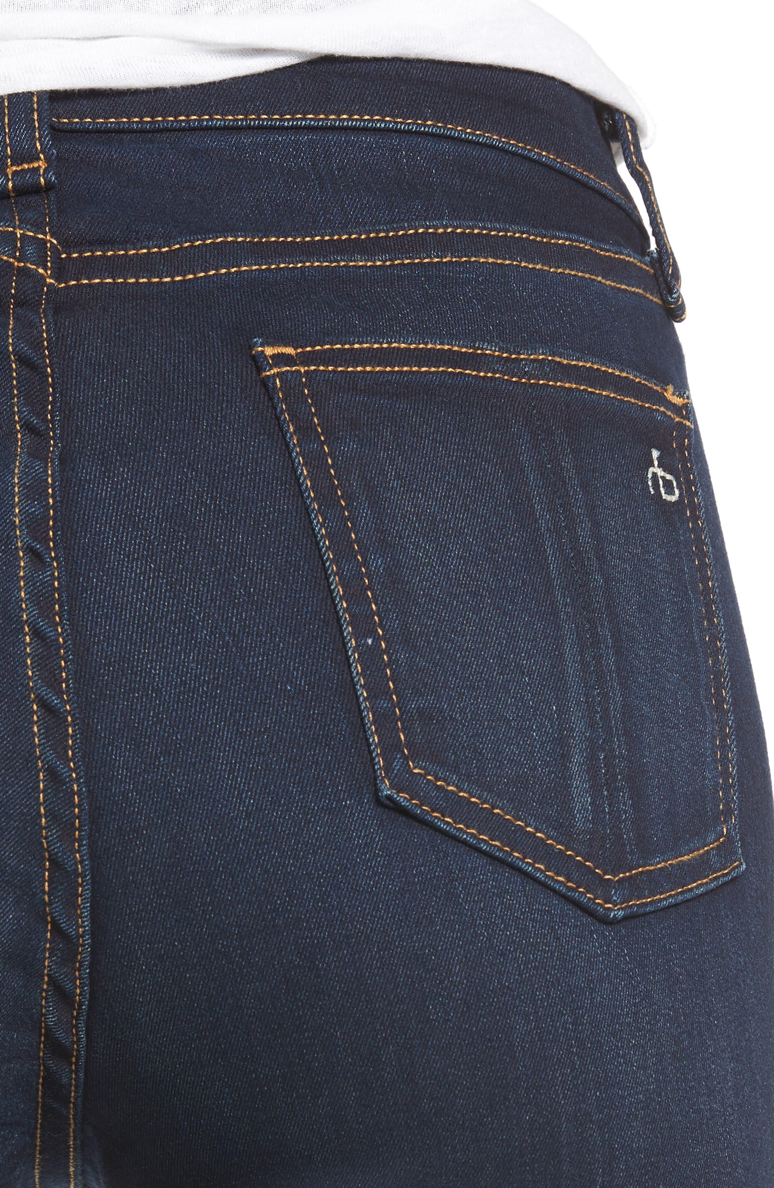 Alternate Image 4  - rag & bone DENIM High Waist Skinny Jeans (Bedford)