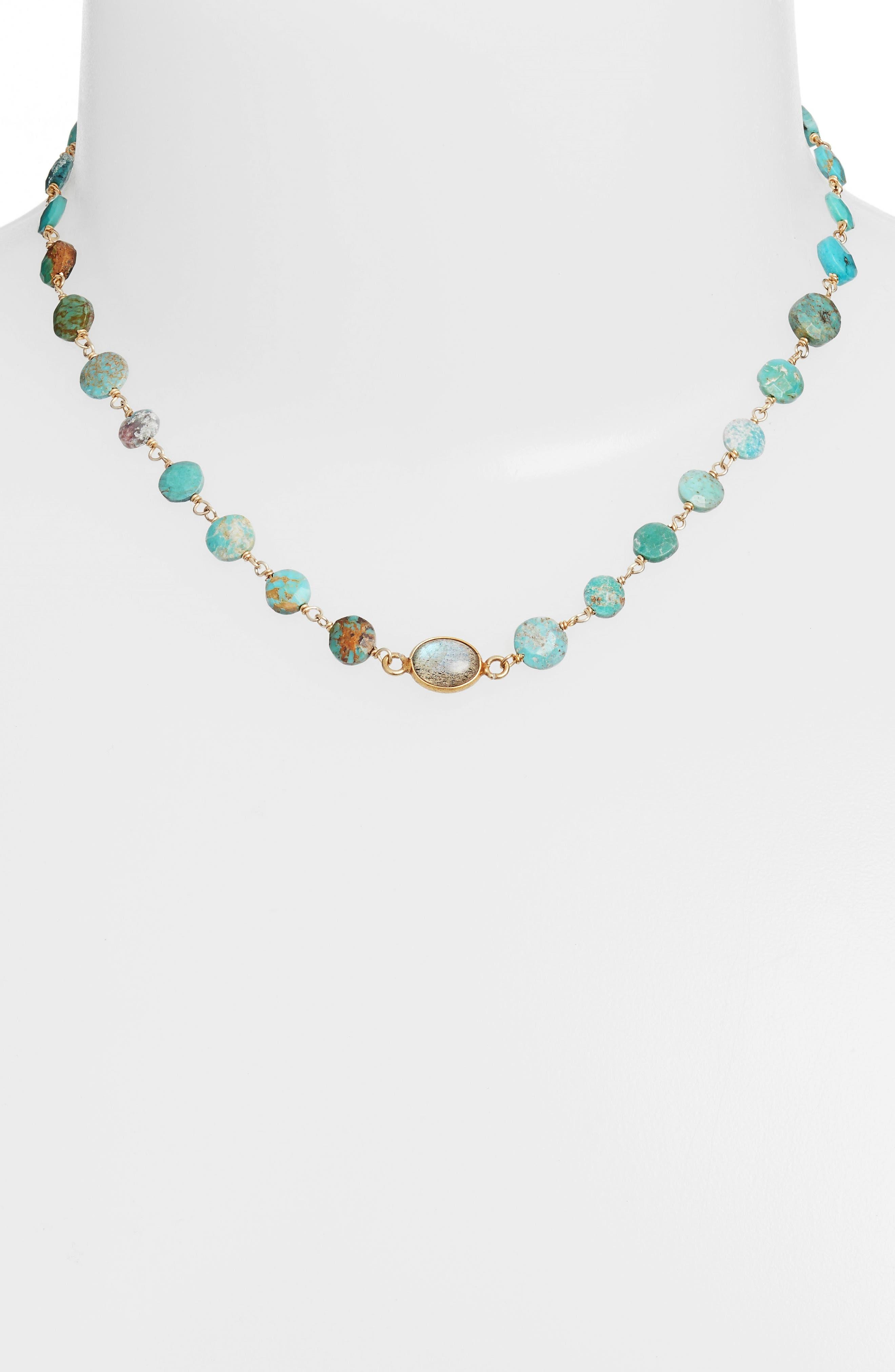 Alternate Image 2  - ela rae Libi Coin Pendant Necklace