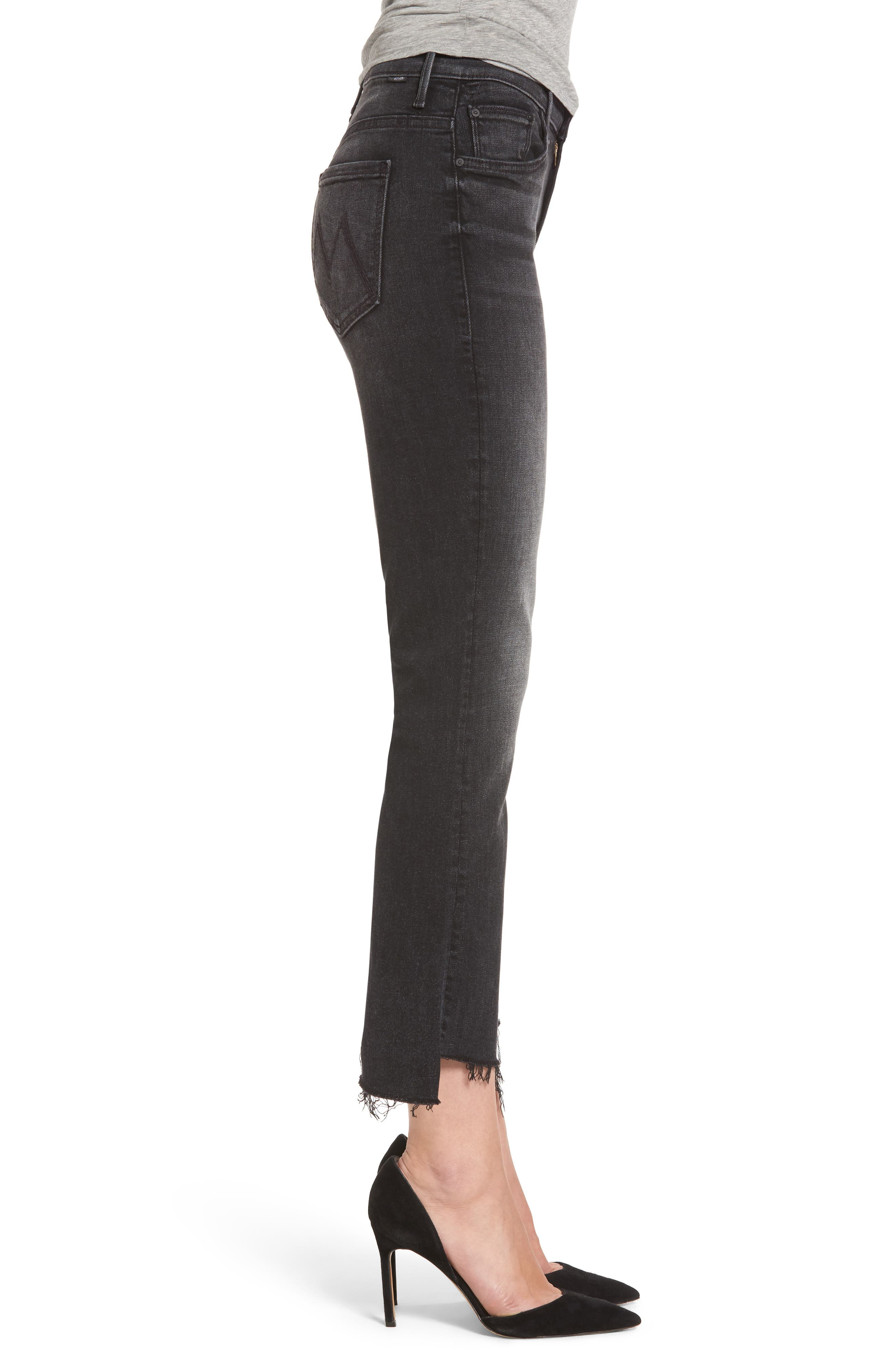 Alternate Image 3  - MOTHER The Insider High Waist Step Hem Crop Bootcut Jeans (Night Hawk)