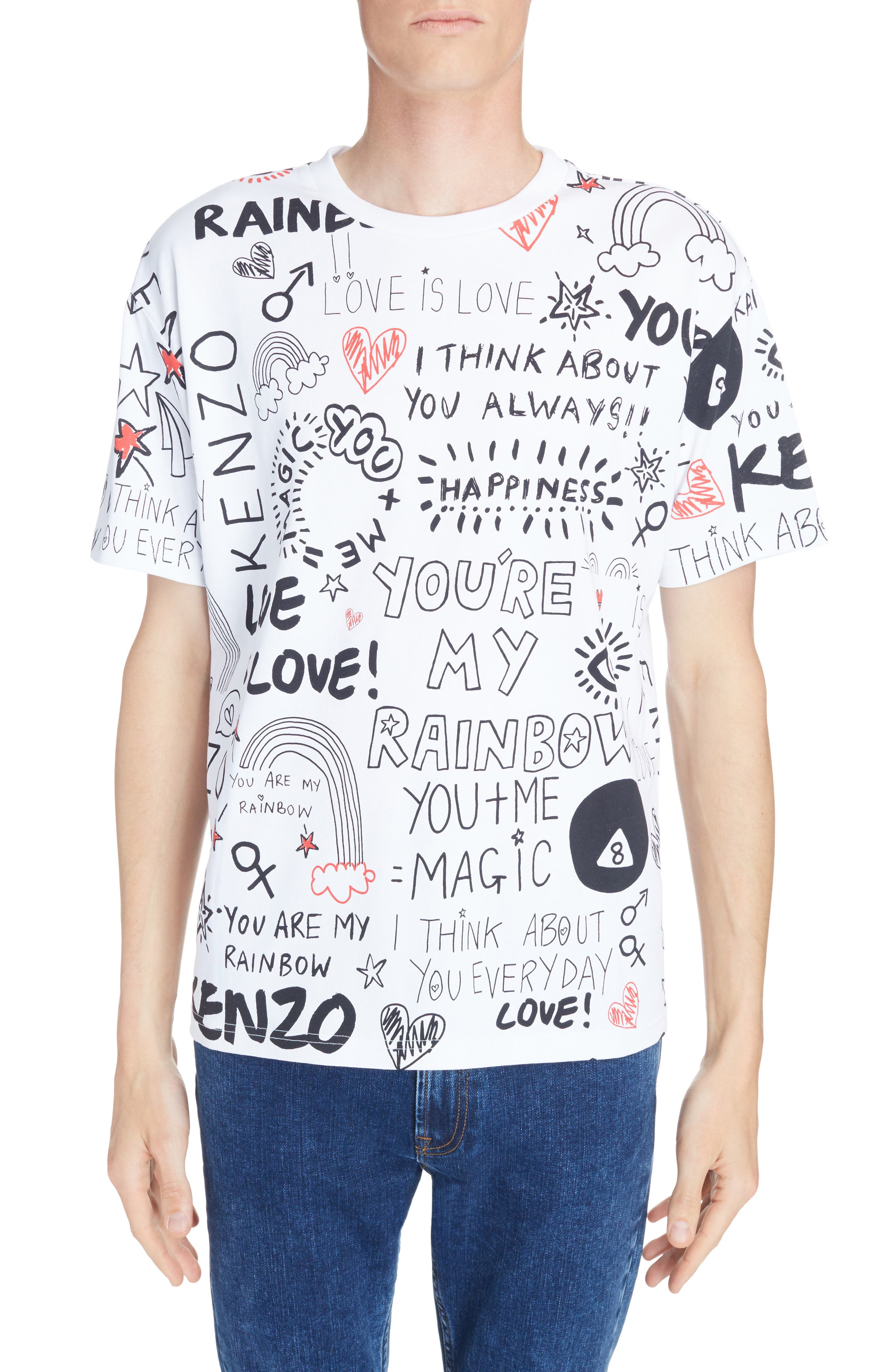 KENZO I Love You Print T-Shirt