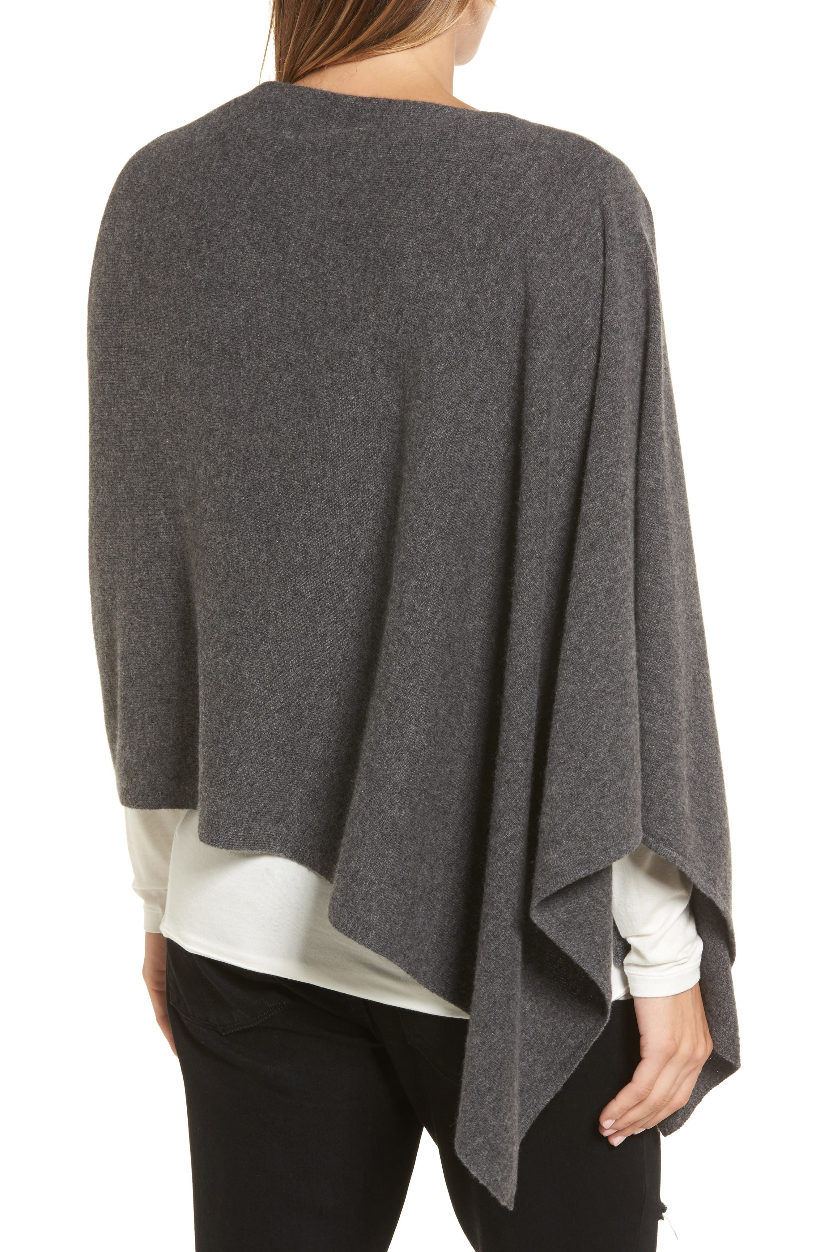 Alternate Image 2  - Halogen® Convertible Cashmere Poncho