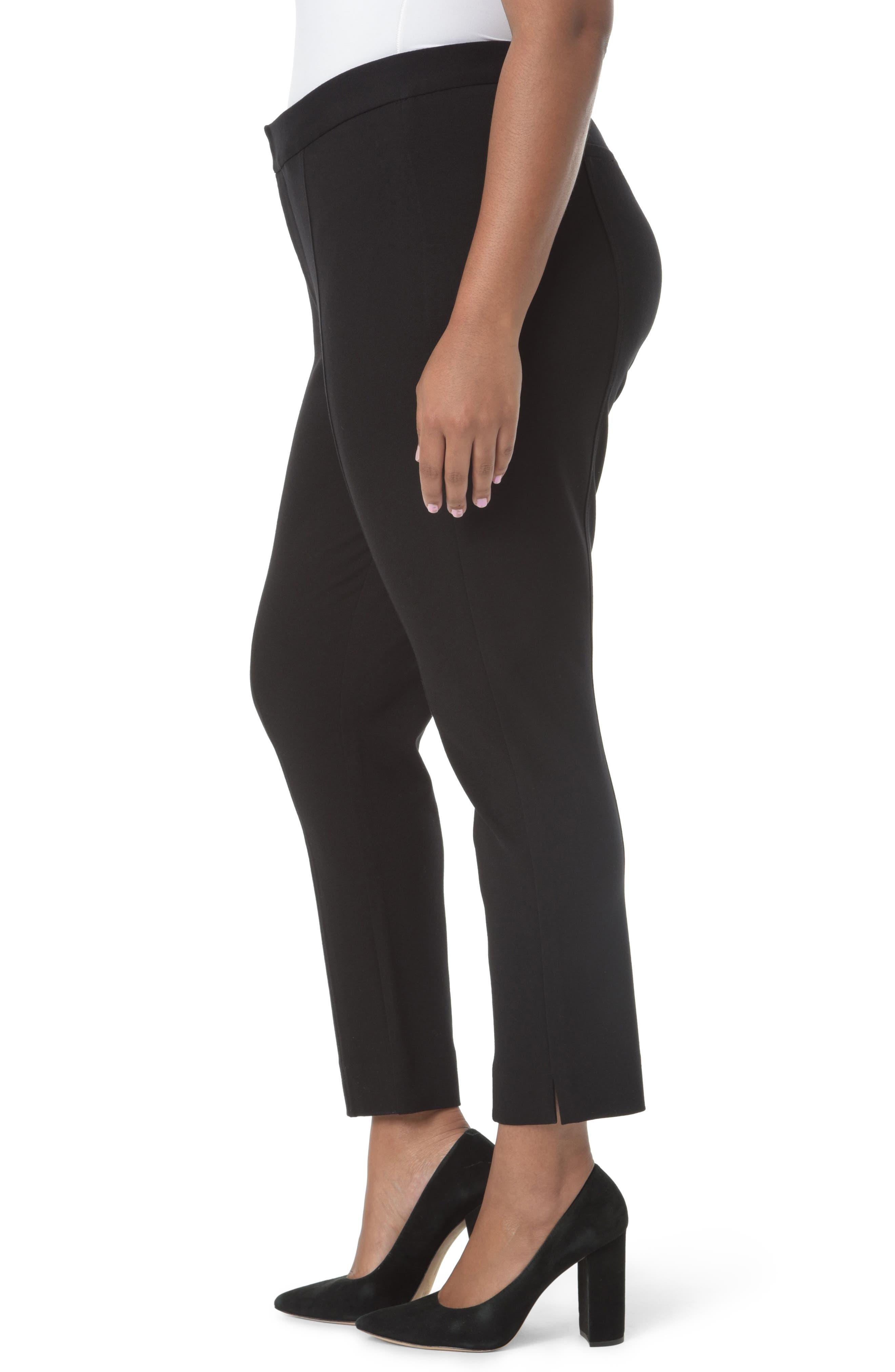 Stretch Ankle Pants,                             Alternate thumbnail 3, color,                             Black