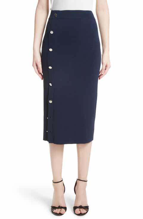 Altuzarra Button Detail Knit Pencil Skirt