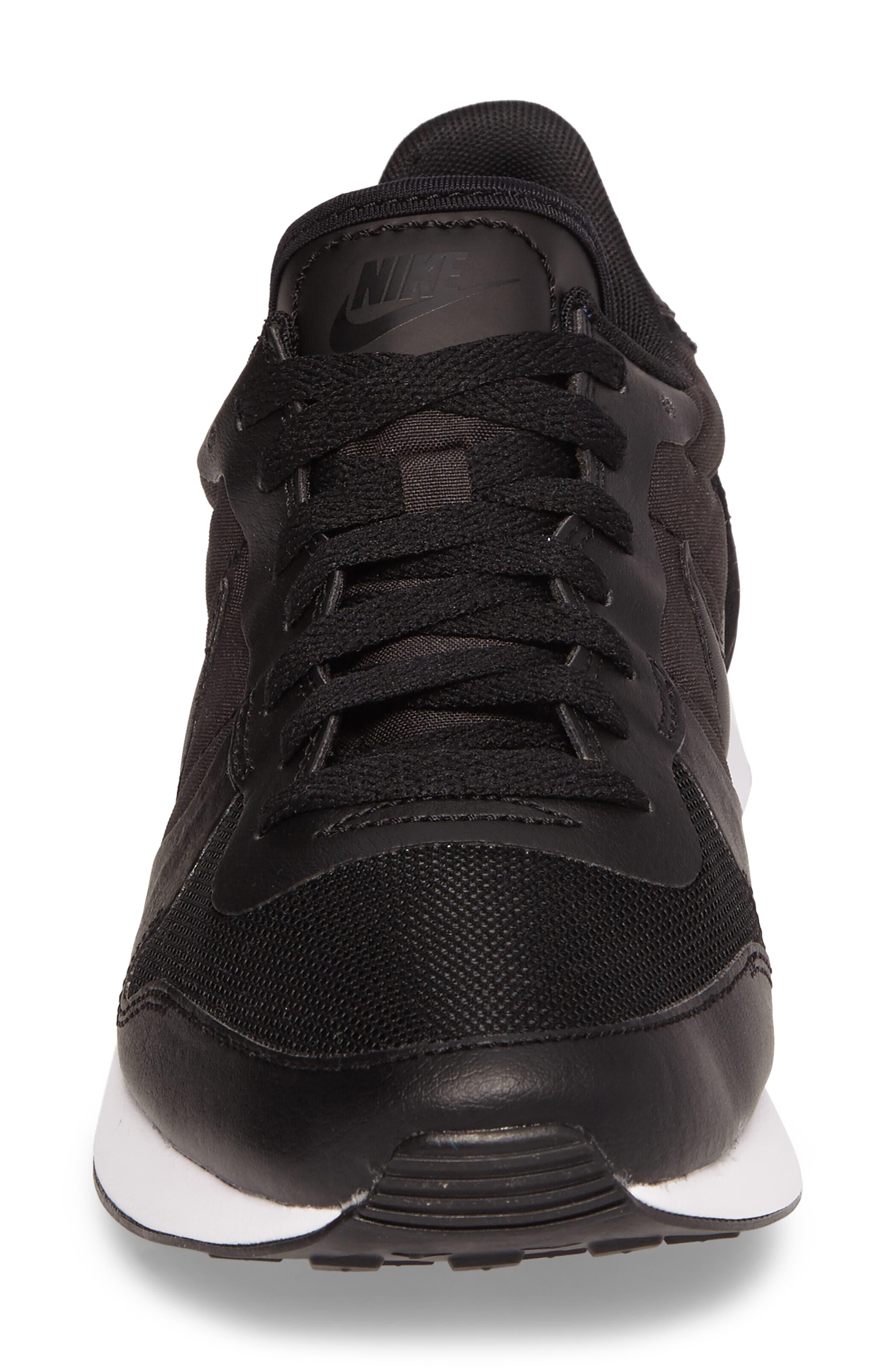 Internationalist LT17 Sneaker,                             Alternate thumbnail 4, color,                             Black/ Black/ White