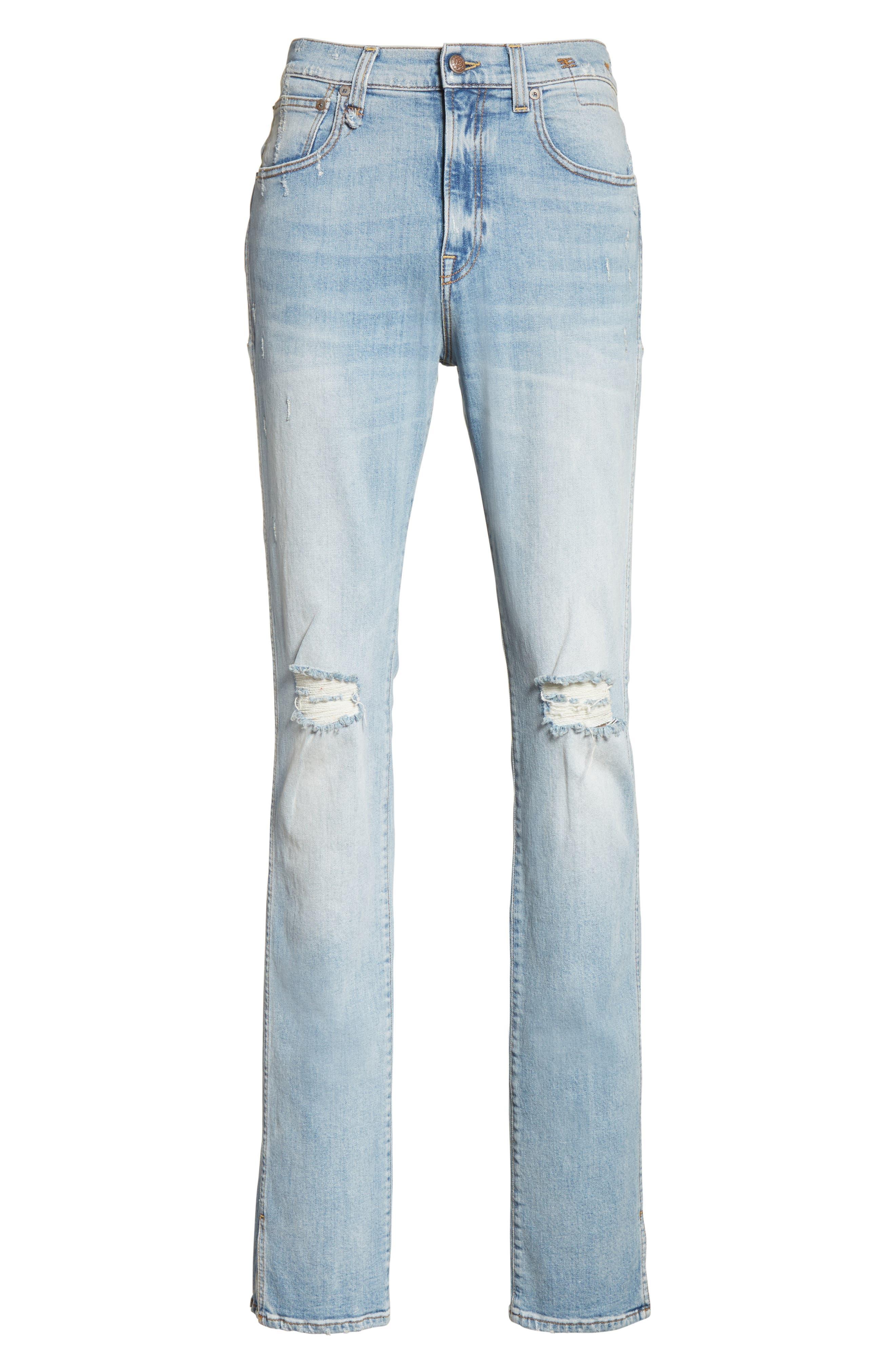 Alternate Image 6  - R13 Deacon Skate Skinny Fit Jeans