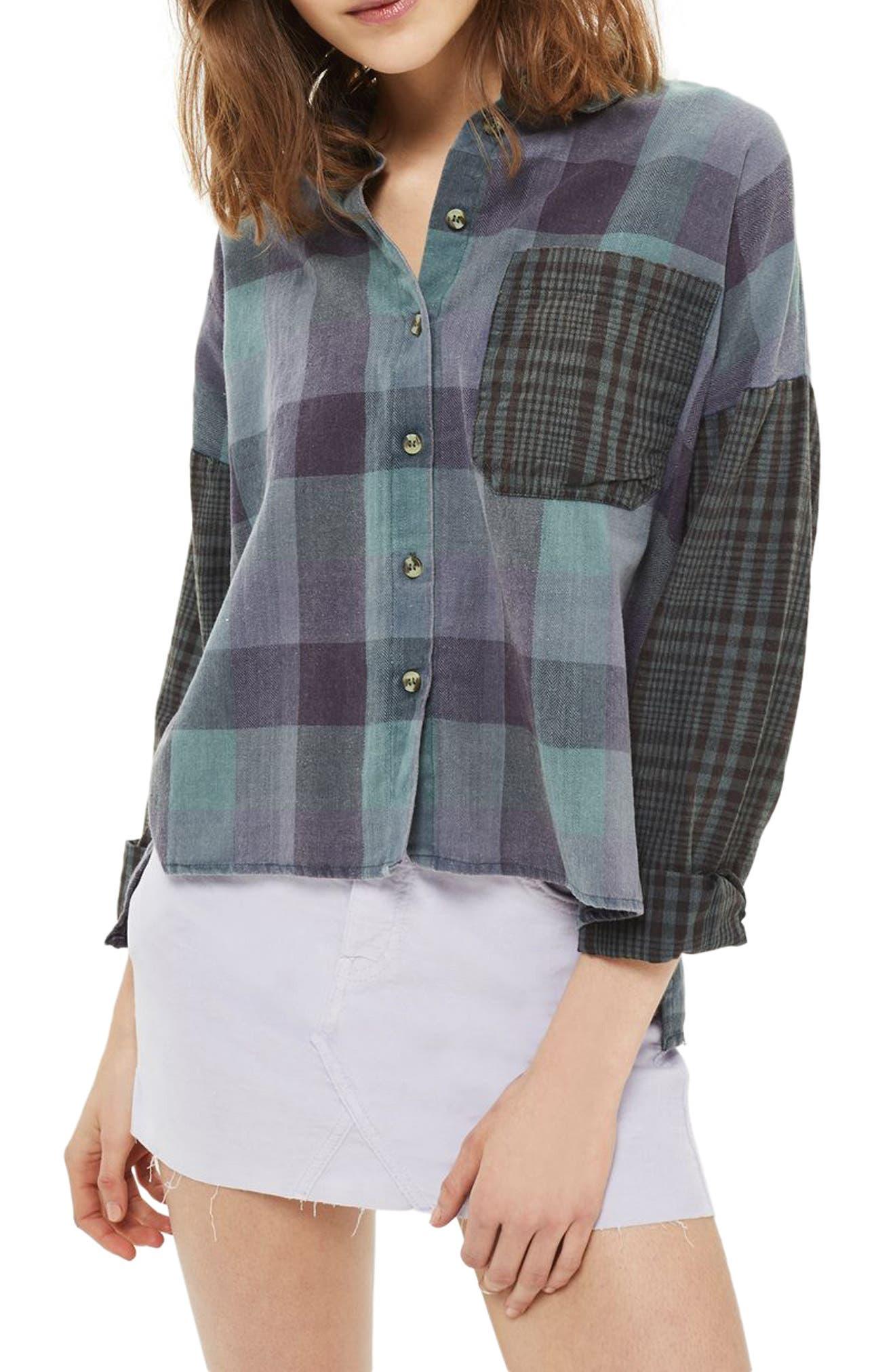Topshop Leigh Mix & Match Shirt