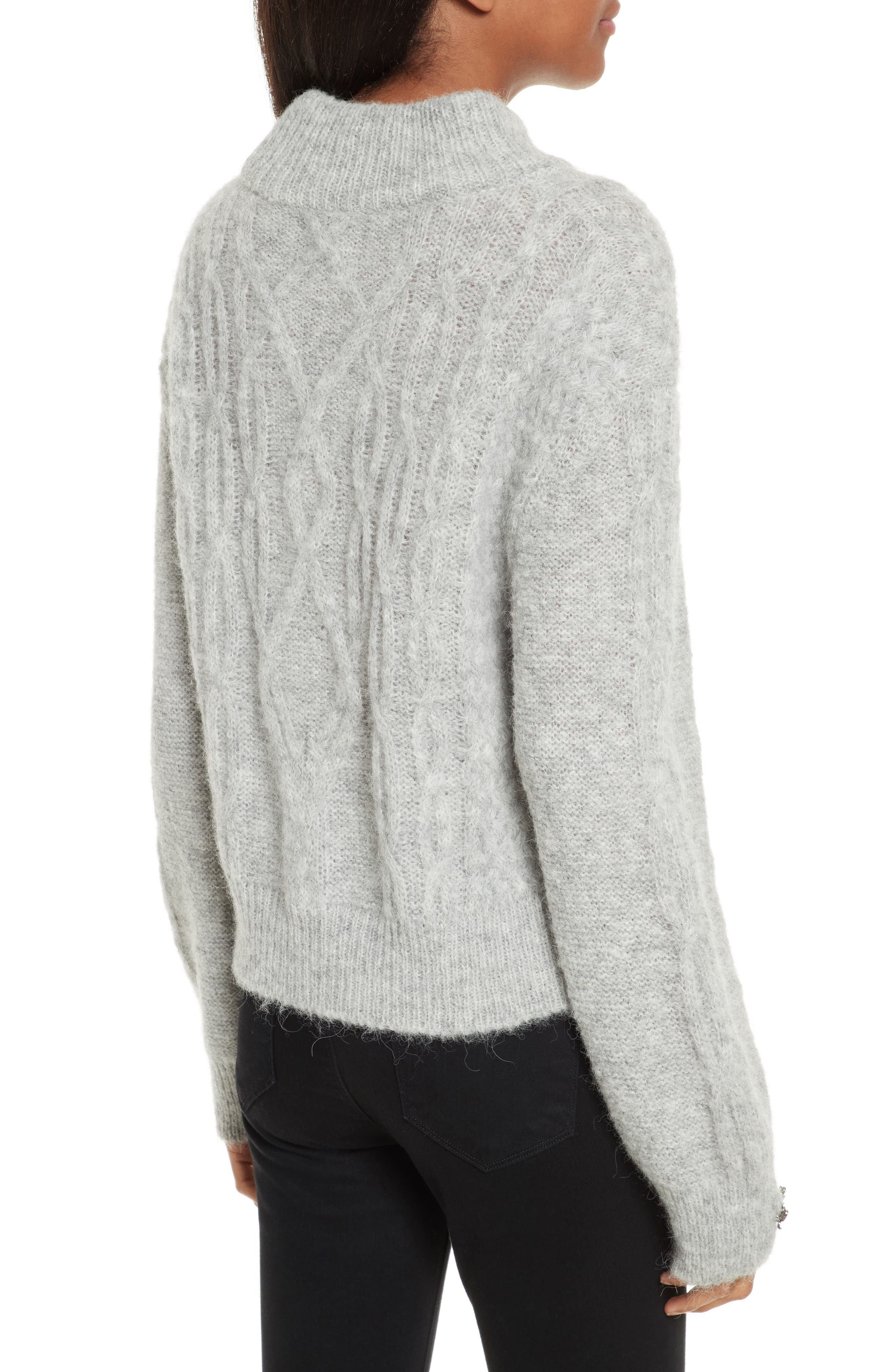 Garlan Mock Neck Sweater,                             Alternate thumbnail 2, color,                             Light Heather Grey