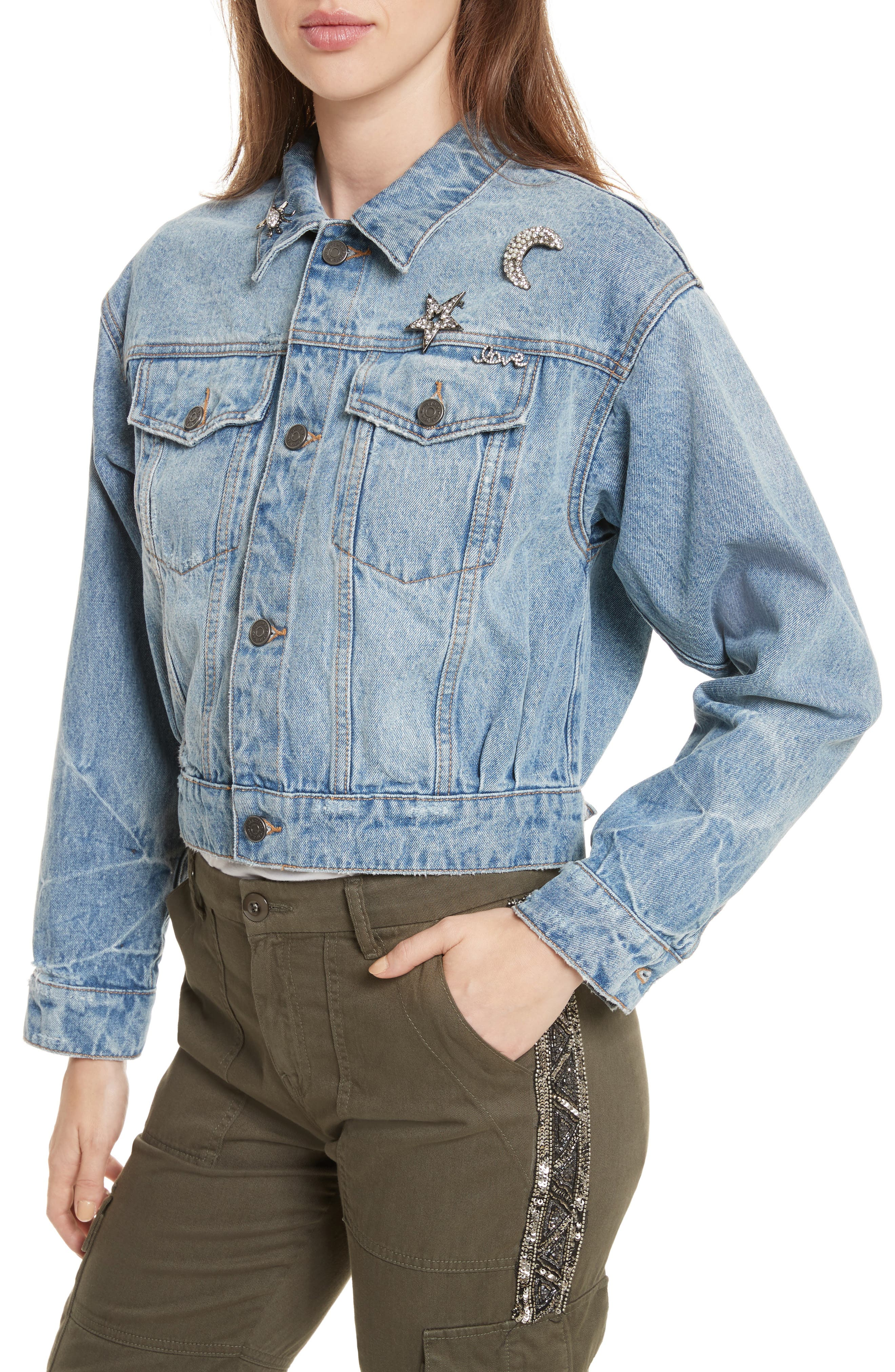 Alternate Image 4  - Joie Redmondia Denim Jacket (Azzurro)