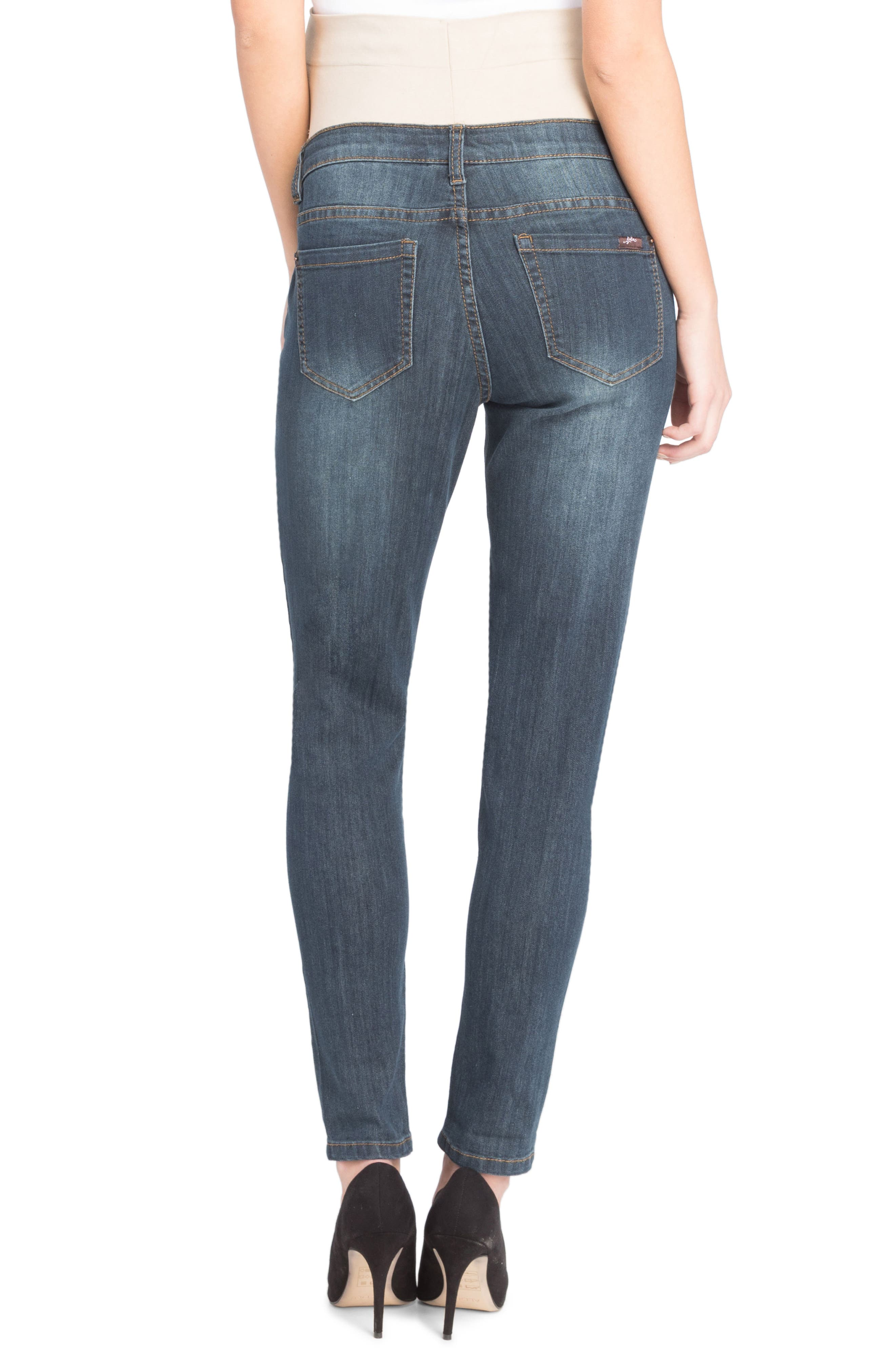 Alternate Image 3  - Lilac Clothing Skinny Maternity Jeans