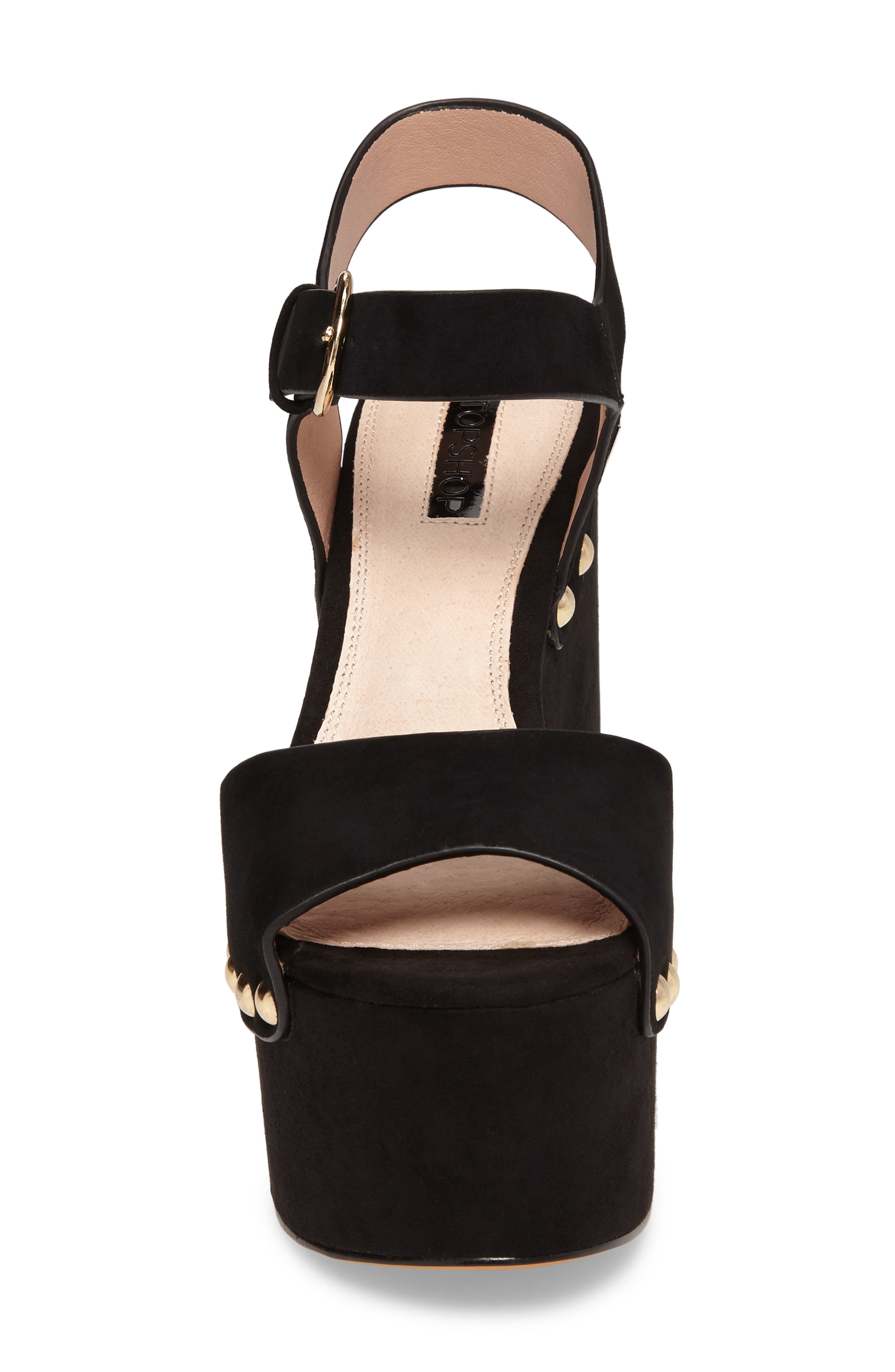 Alternate Image 4  - Topshop Lourdes Embroidered Platform Sandal (Women)