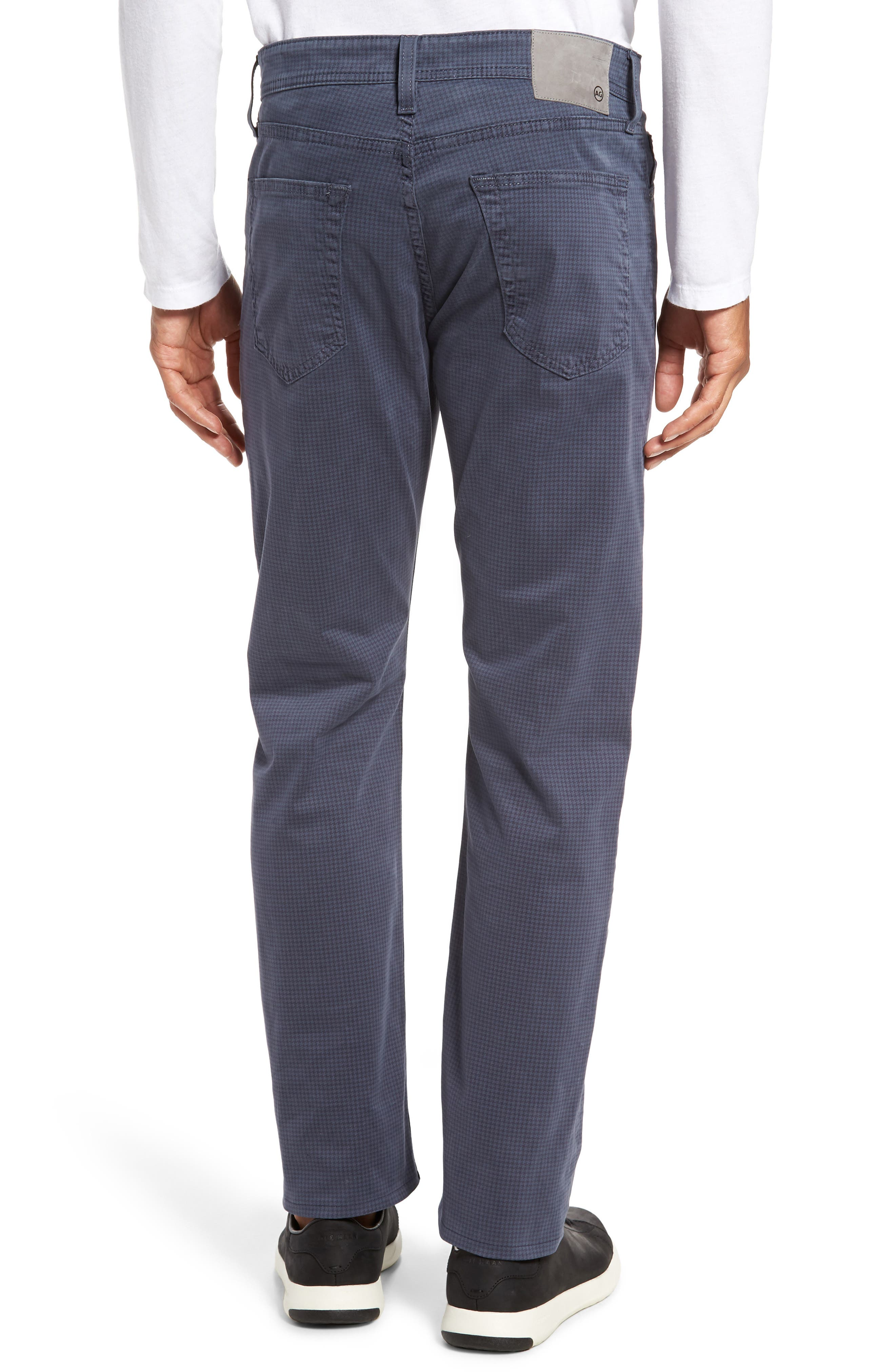Alternate Image 2  - AG Houndstooth Everett SUD Straight Leg Pants