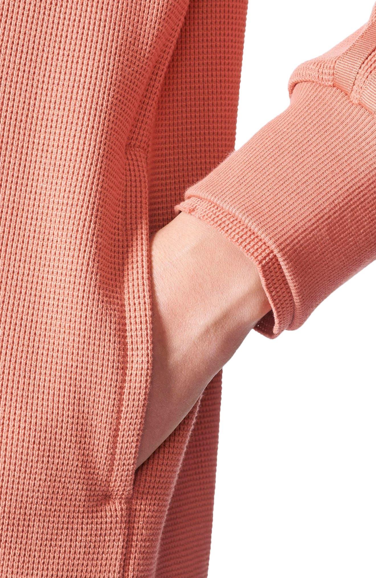 Originals Thermal Sweatshirt,                             Alternate thumbnail 4, color,                             Raw Pink