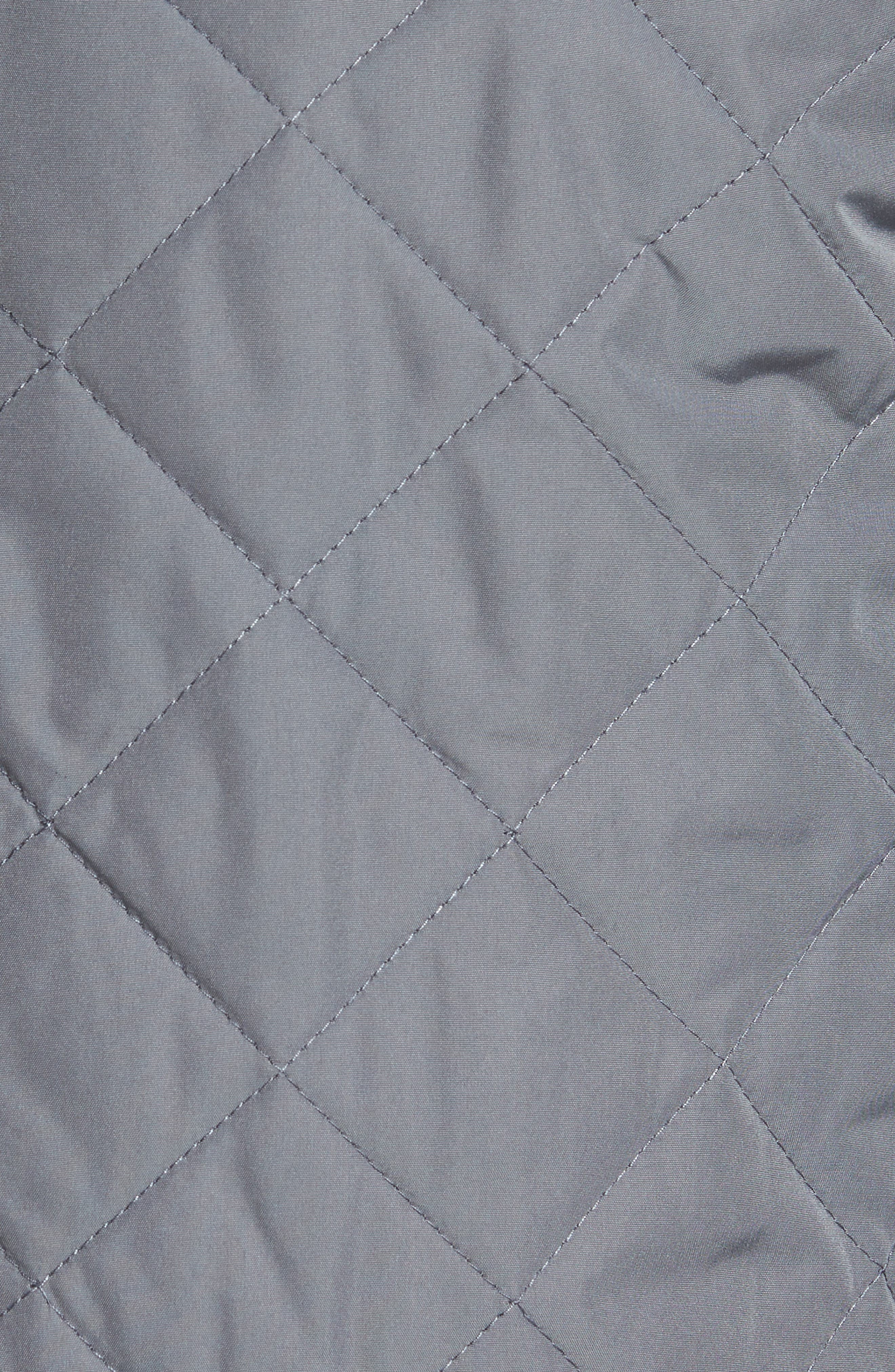 Distributor Quilted Bomber Jacket,                             Alternate thumbnail 5, color,                             Grey
