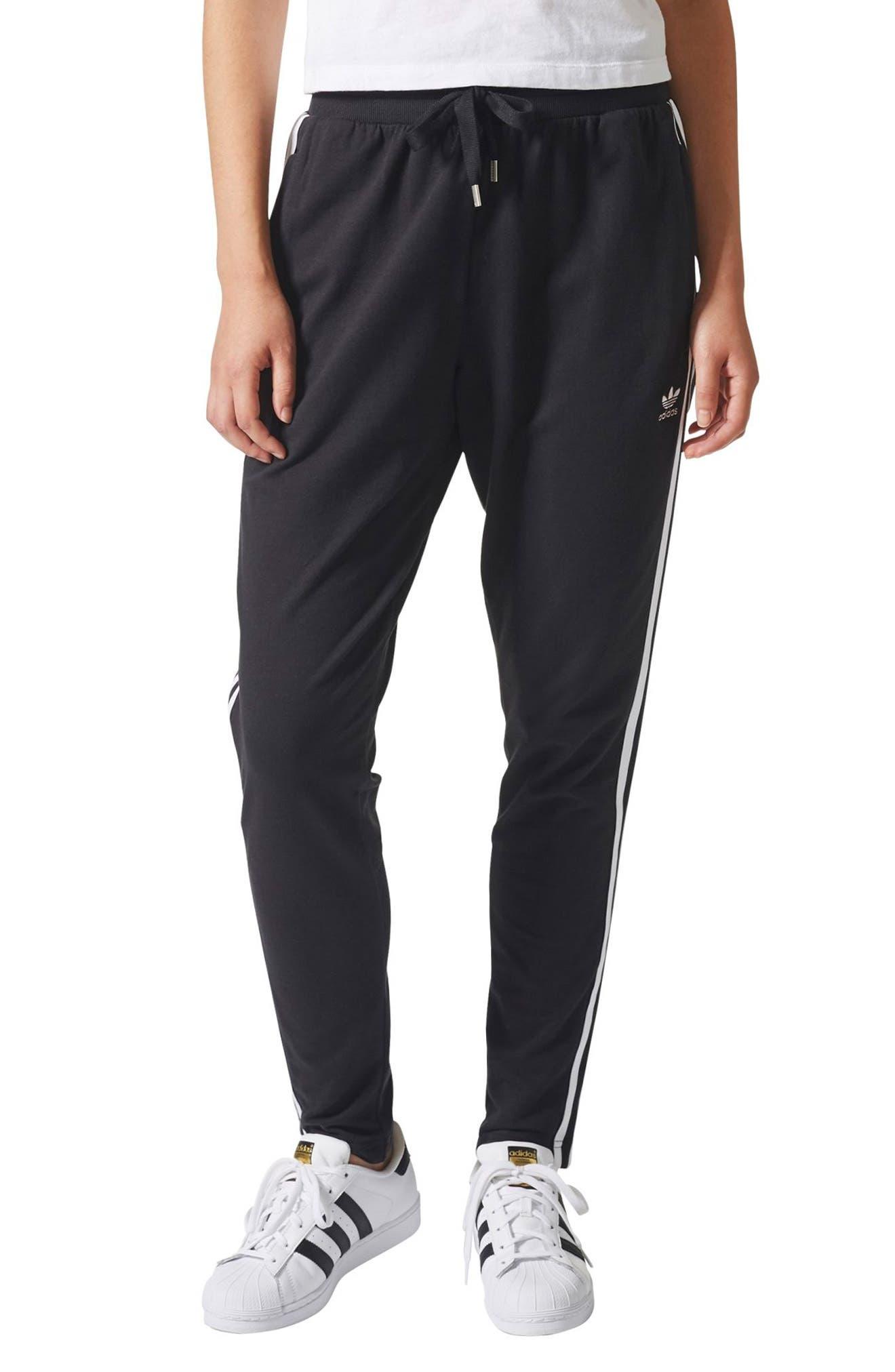 3-Stripes Tapered Pants,                         Main,                         color, Black