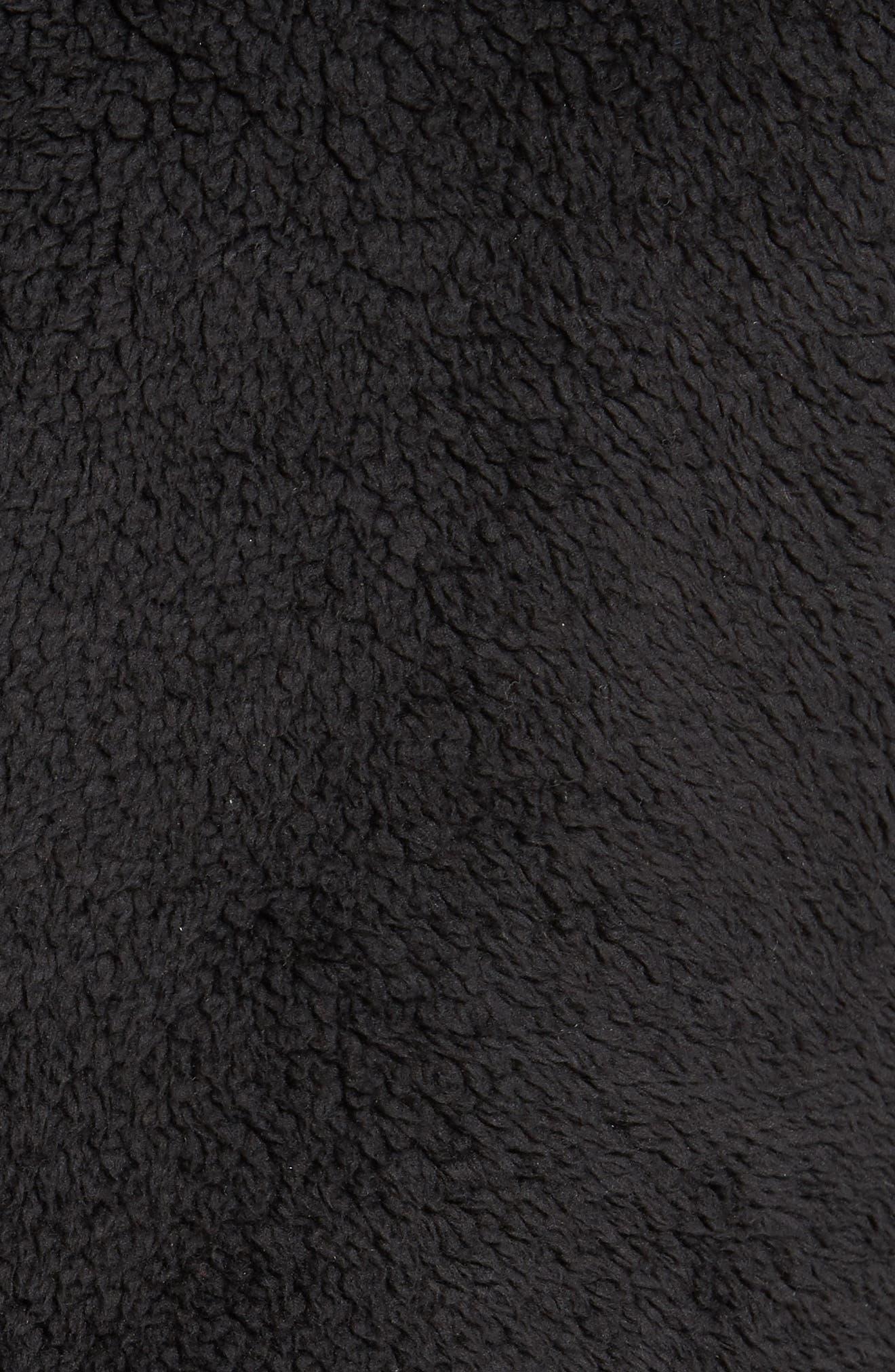 Campshire Fleece Vest,                             Alternate thumbnail 5, color,                             Black
