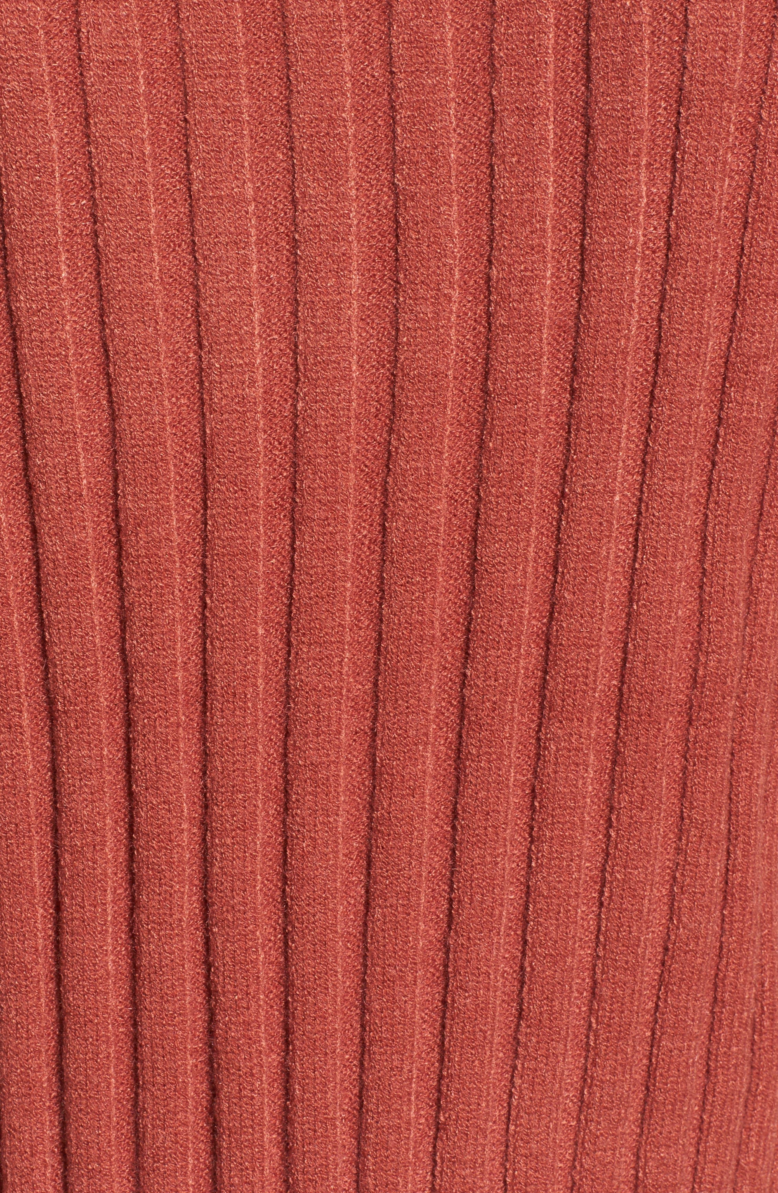 Alternate Image 5  - J.O.A. Crop Ribbed Sweater