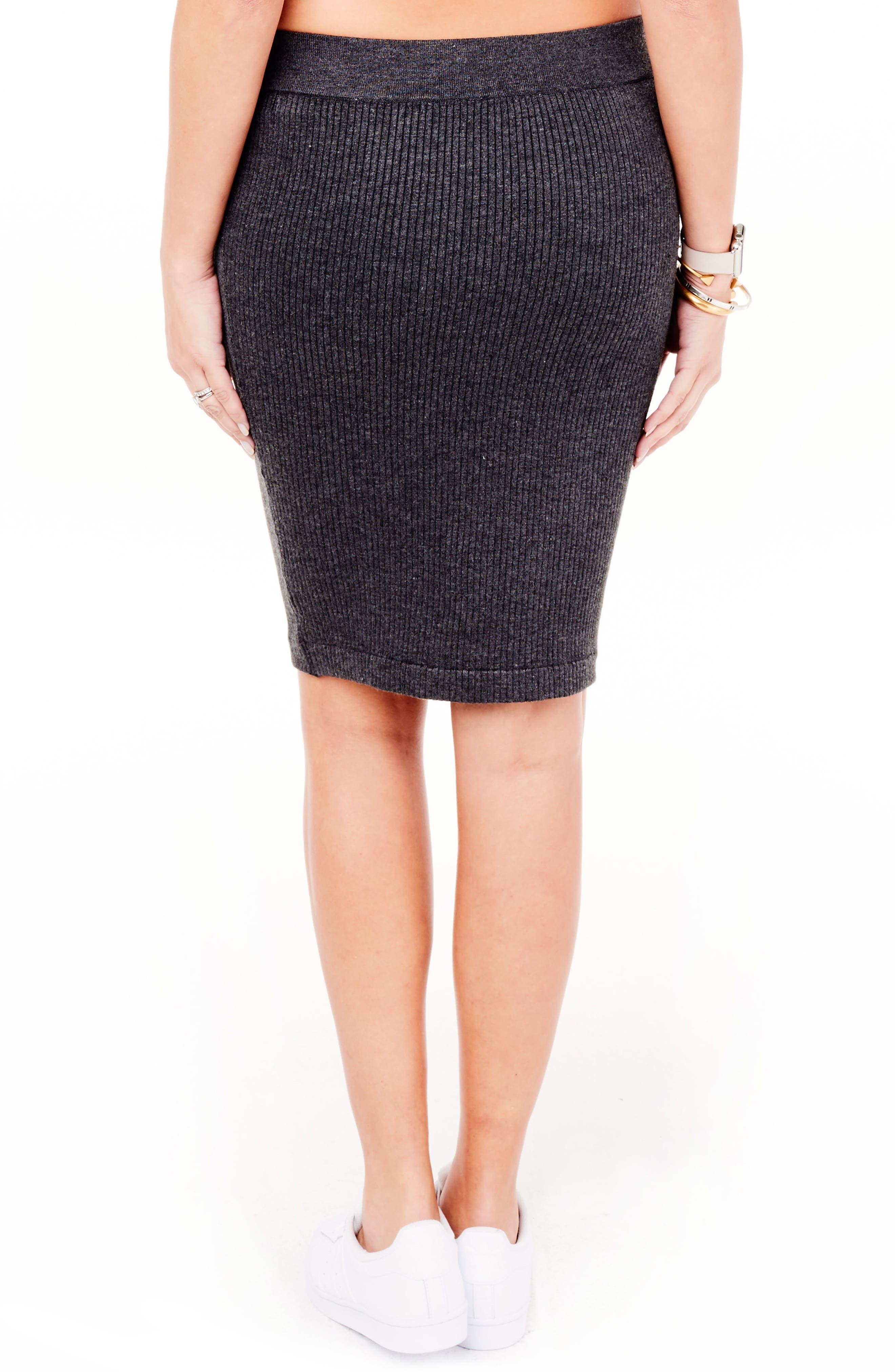 Alternate Image 3  - Ingrid & Isabel Ribbed Maternity Sweater Skirt