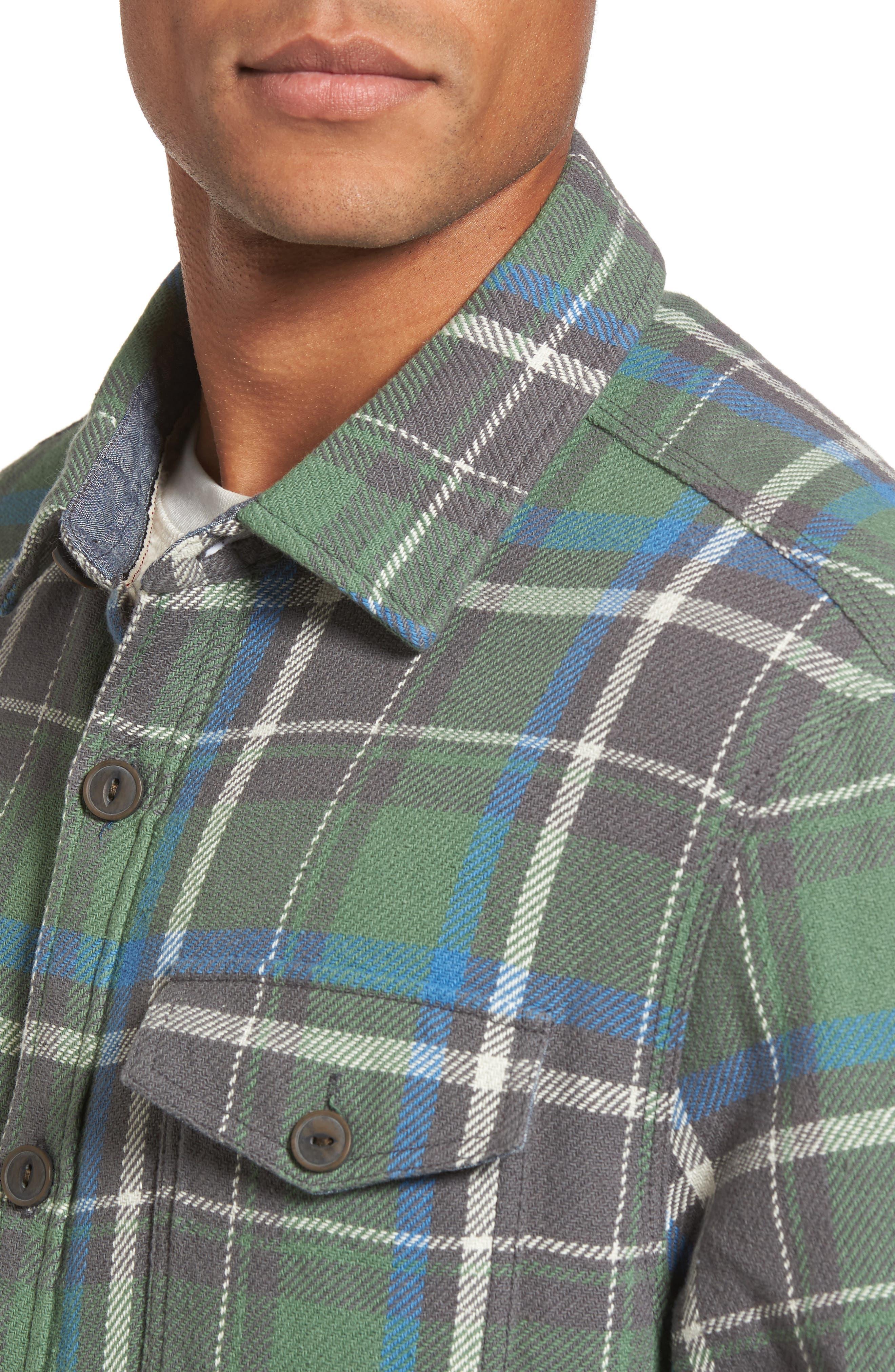 Alternate Image 4  - True Grit Summit Hunter Plaid Faux Shearling Lined Shirt Jacket