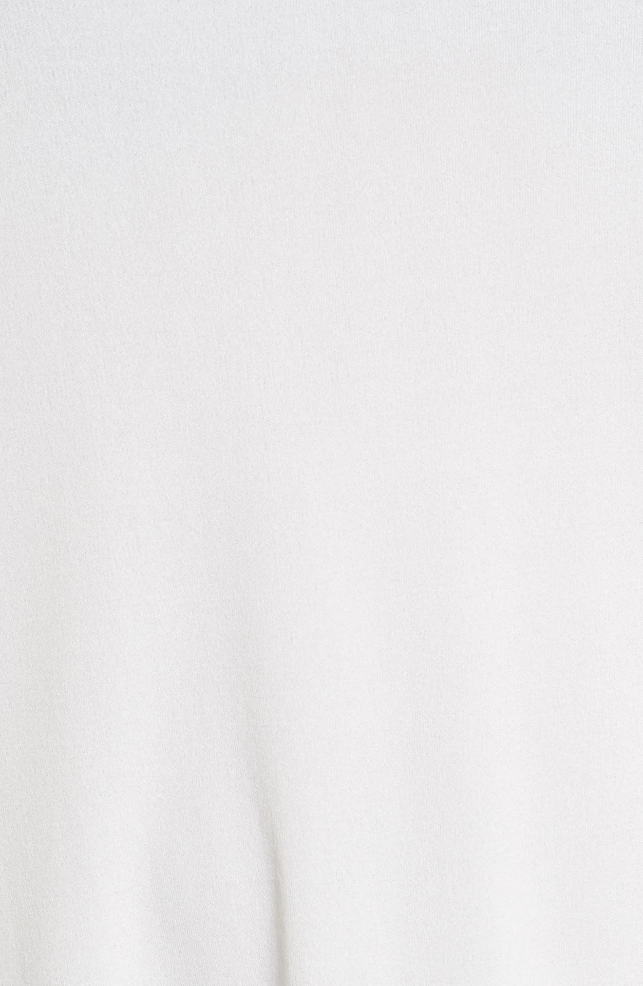Scoop Neck Silk Tunic,                             Alternate thumbnail 6, color,                             Soft White