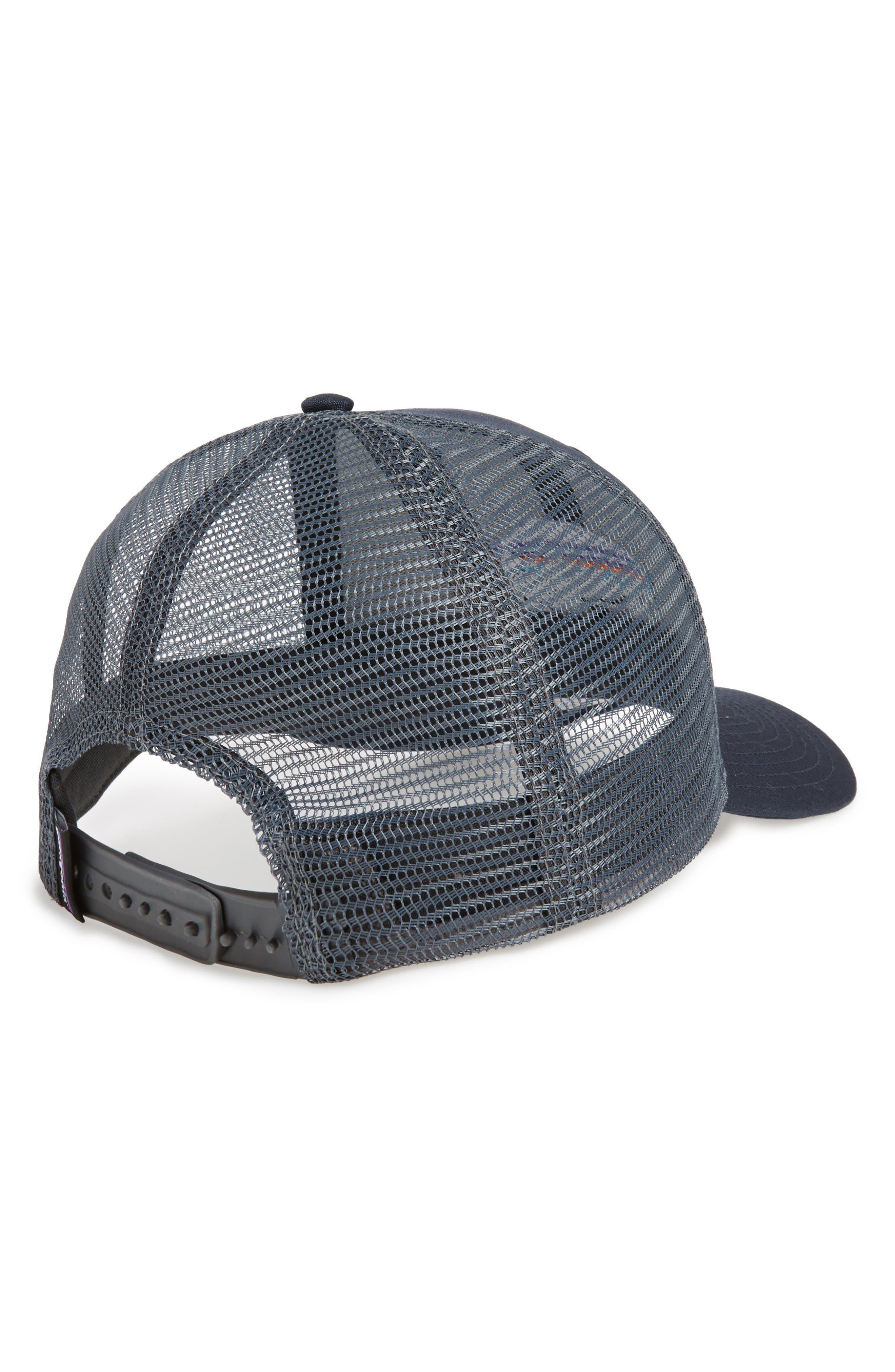 'Fitz Roy Bison' Trucker Hat,                             Alternate thumbnail 2, color,                             Navy Blue