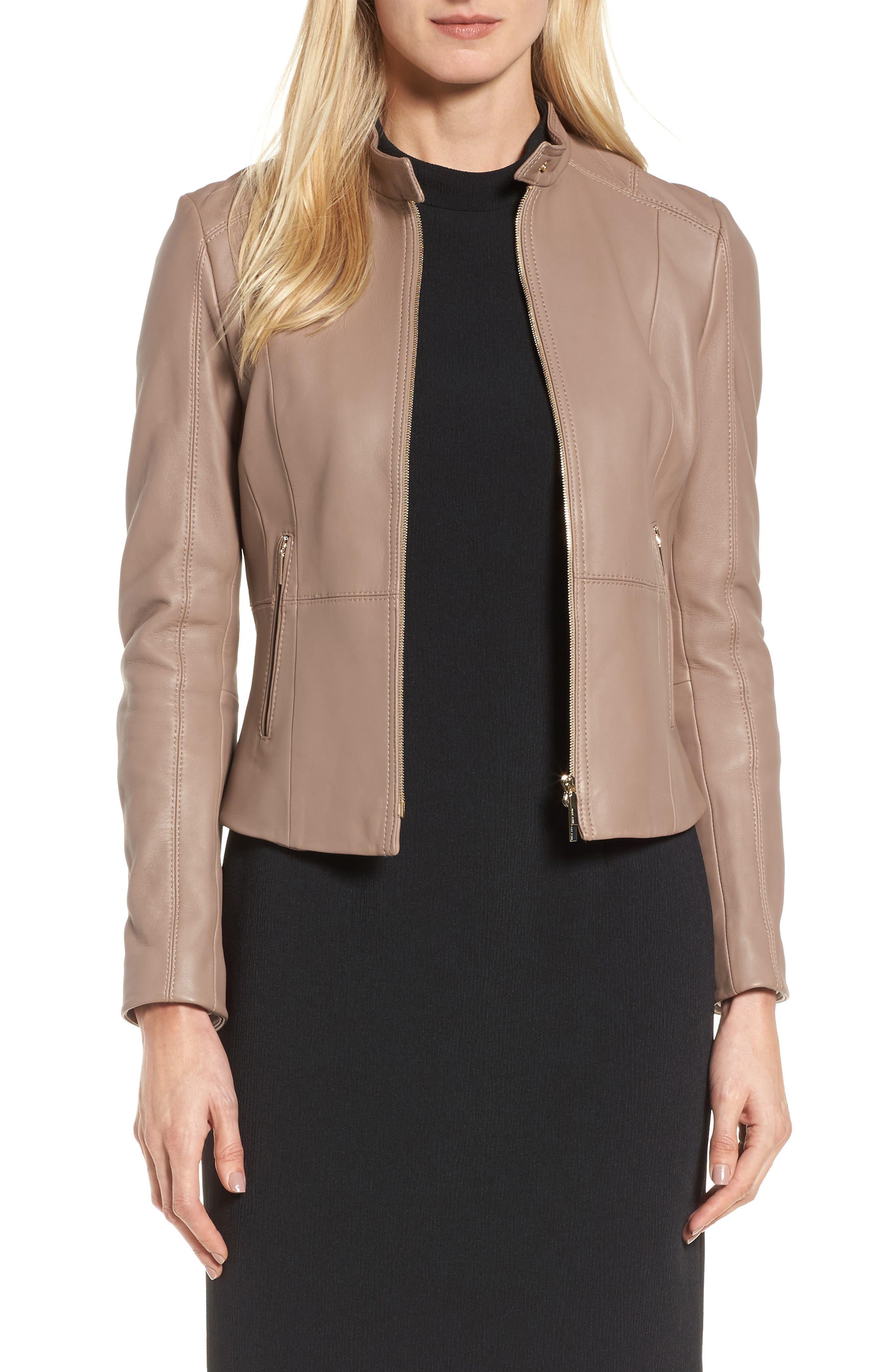 BOSS Sammonaie Leather Jacket
