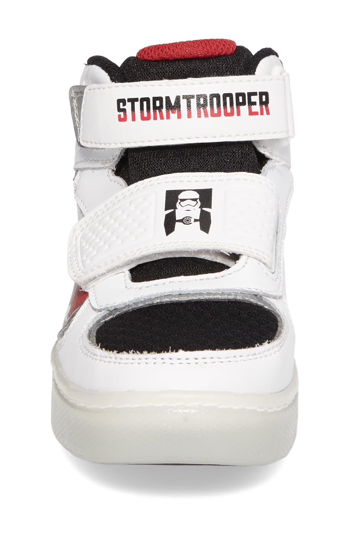 Star Wars<sup>®</sup> Stormtropper Galaxy Light-Up Sneaker,                             Alternate thumbnail 4, color,                             White/ Black
