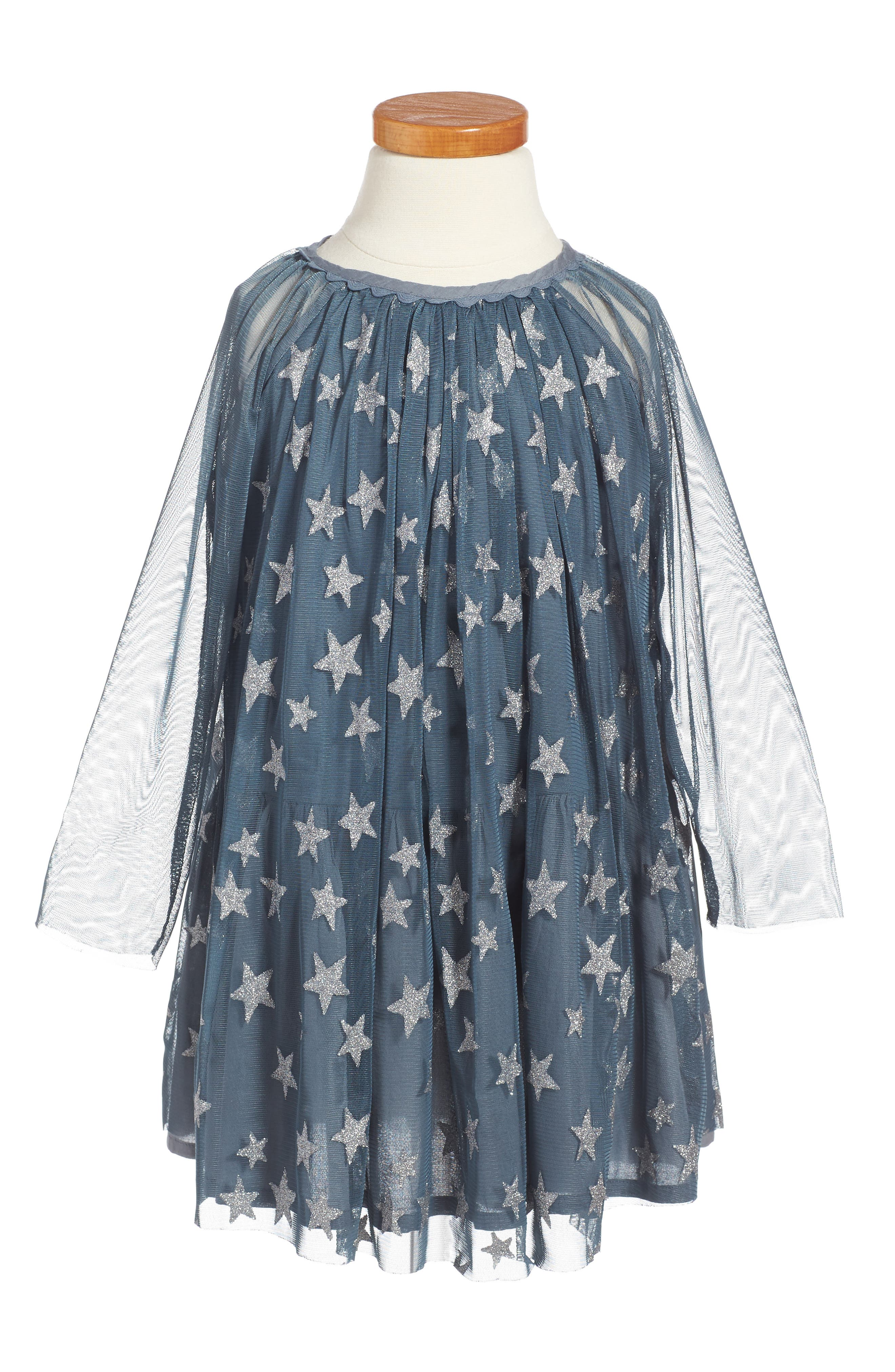 Stella McCartney Kids Tulle Star Shift Dress (Little Girls & Big Girls)