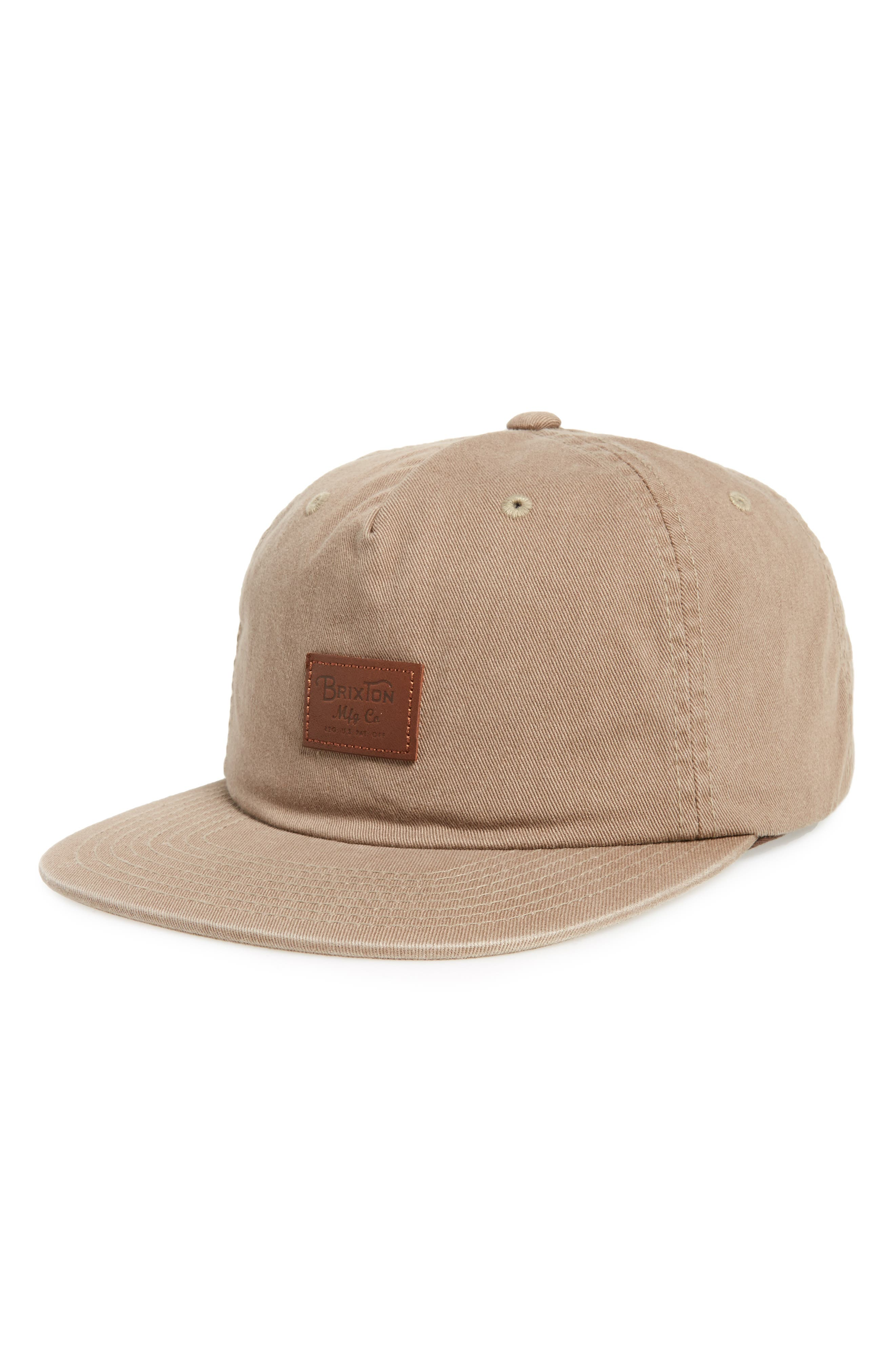 Grade II Snapback Baseball Cap,                             Main thumbnail 1, color,                             Washed Mocha