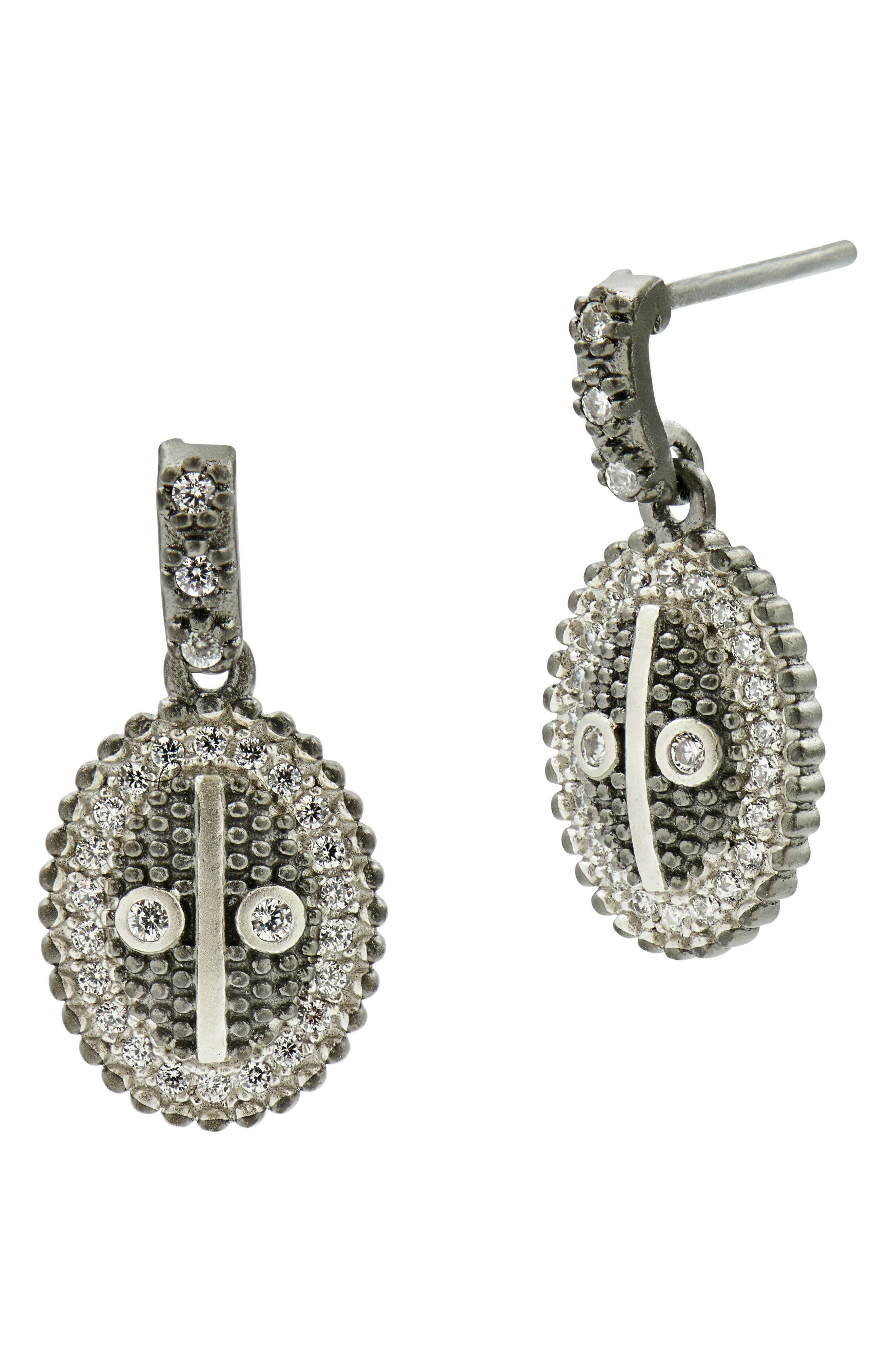 Main Image - FREIDA ROTHMAN Industrial Finish Oval Drop Earrings