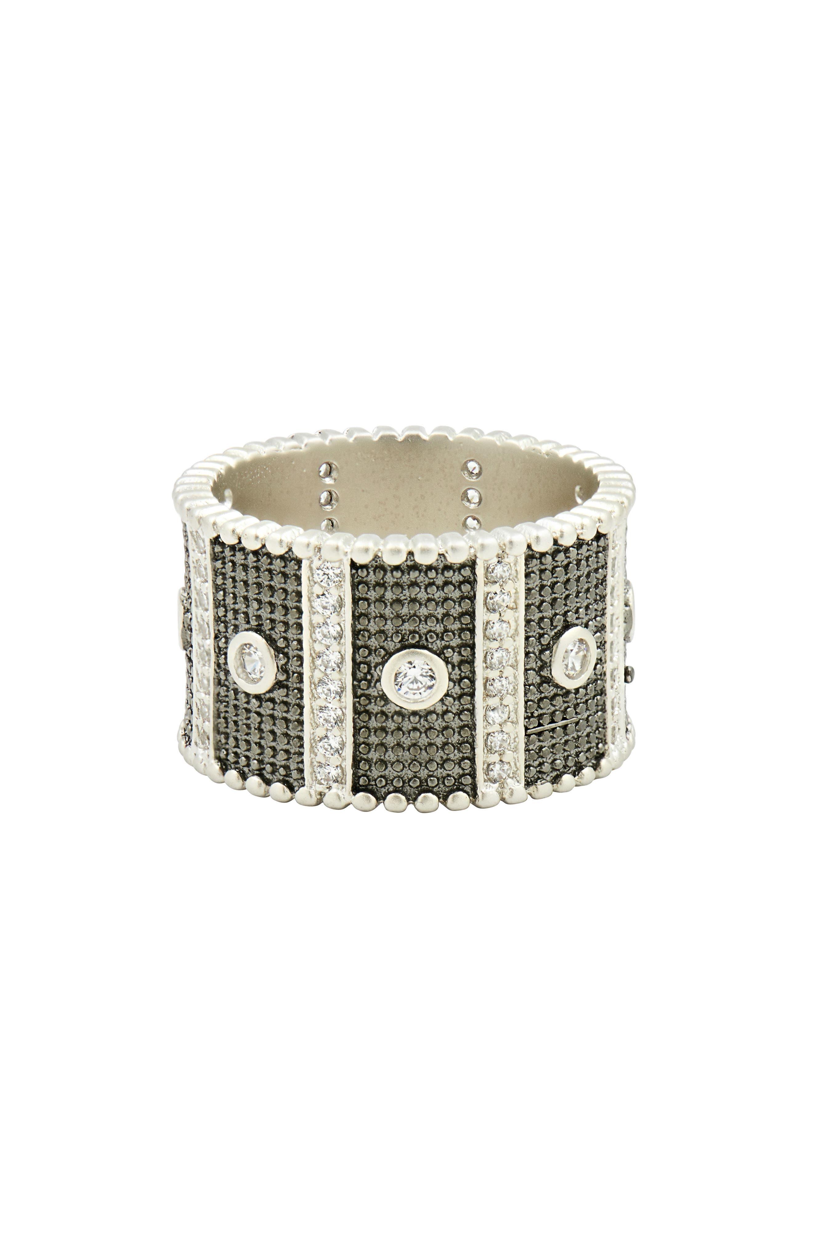 FREIDA ROTHMAN Industrial Finish Cubic Zirconia Ring