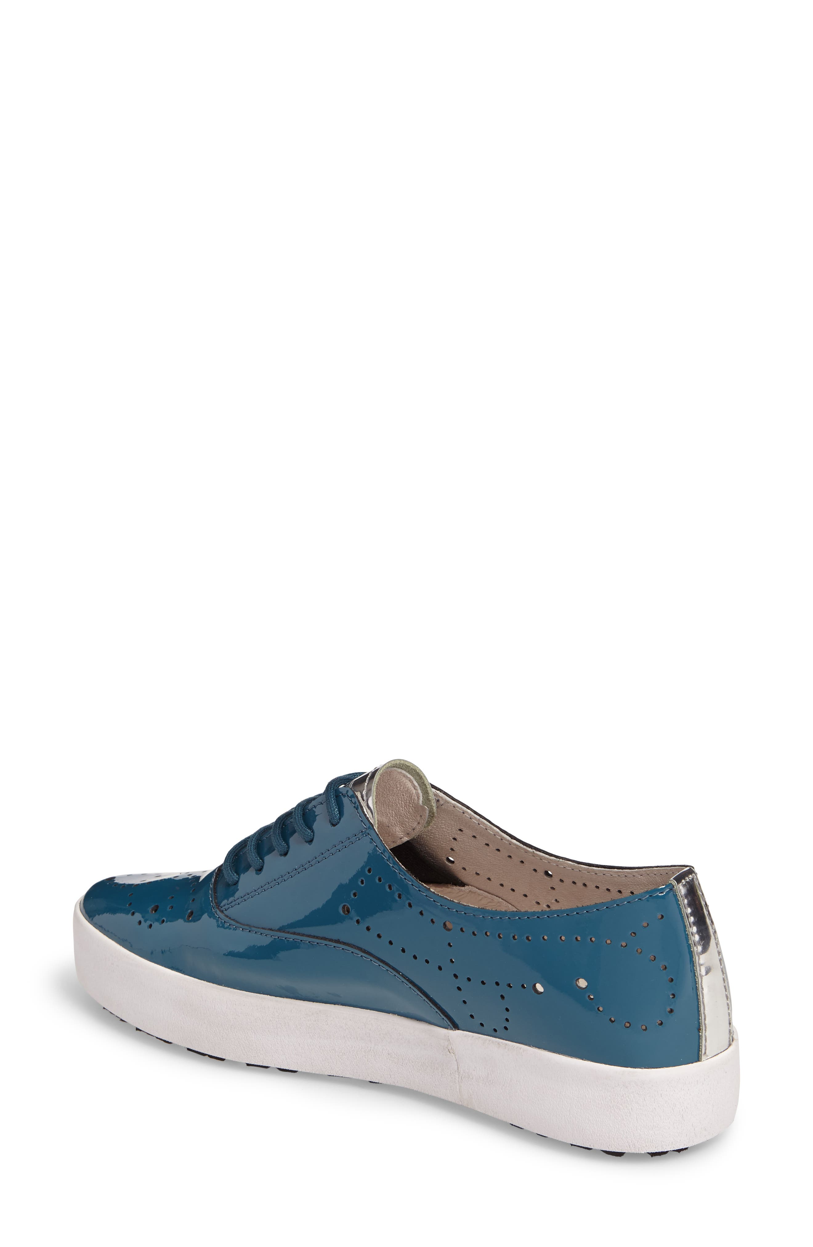 NL41 Sneaker,                             Alternate thumbnail 2, color,                             Turquoise Patent Leather