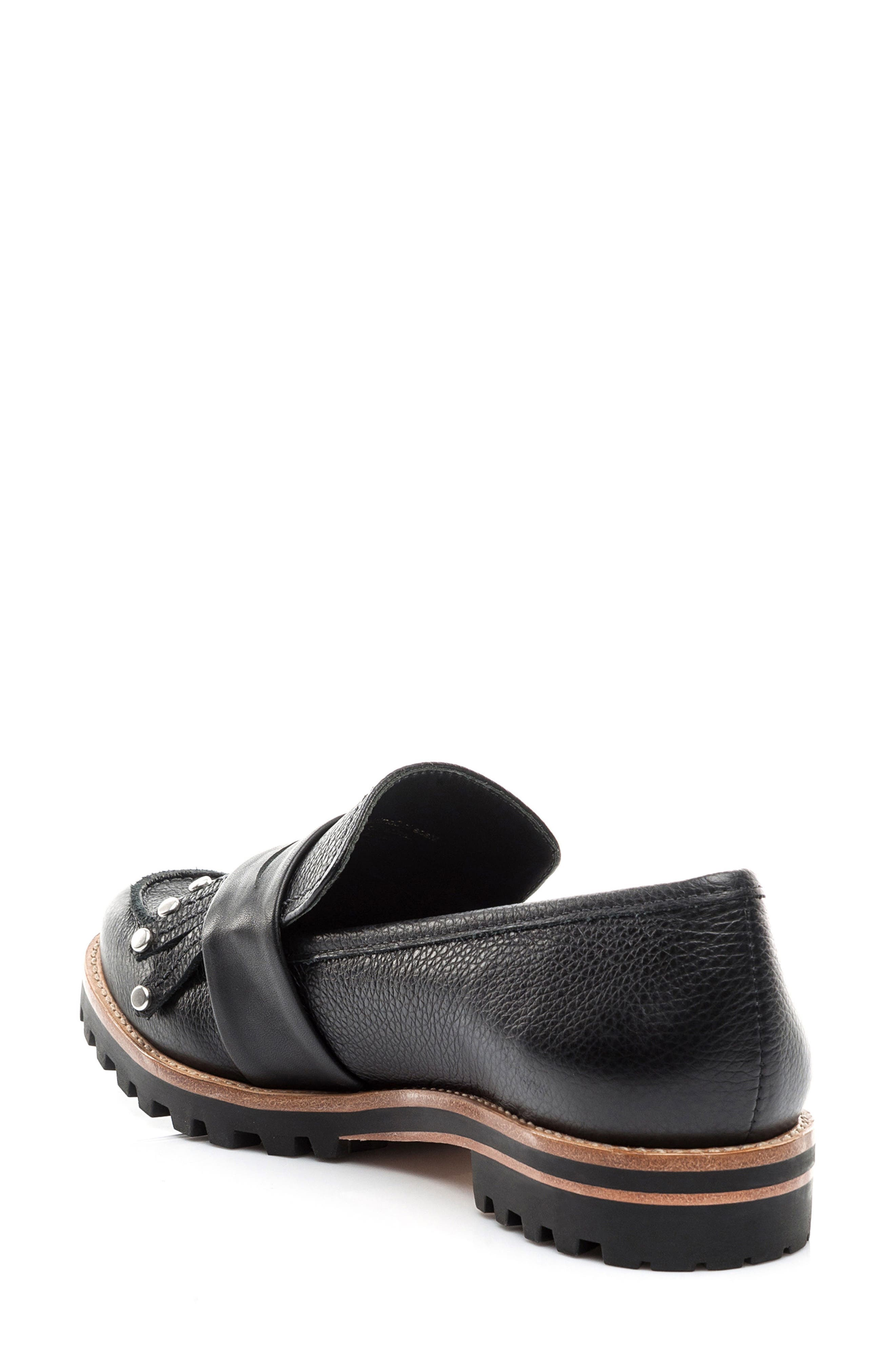 Olley Loafer,                             Alternate thumbnail 2, color,                             Black Leather