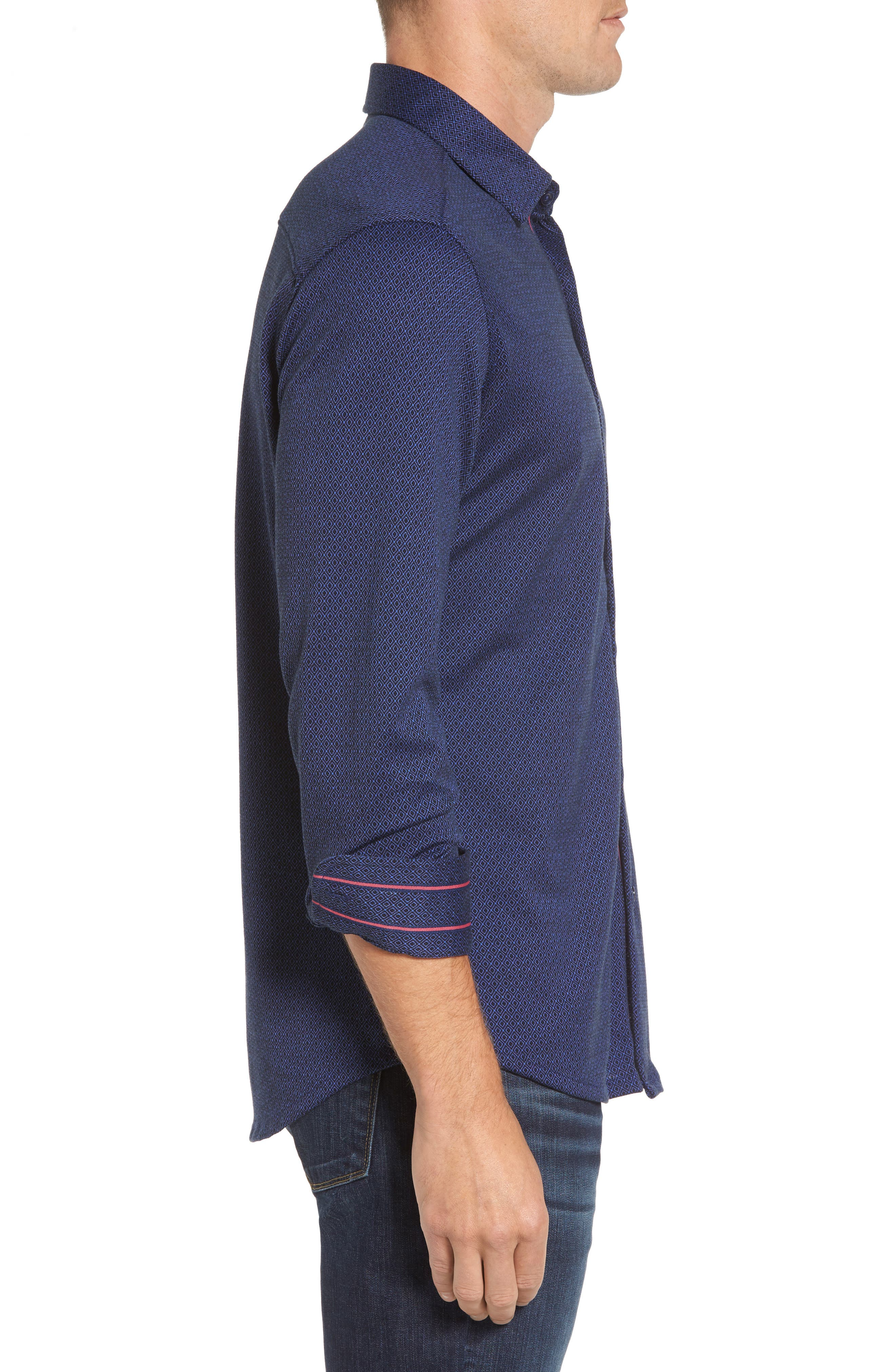 Alternate Image 3  - Stone Rose Slim Fit Dobby Diamond Sport Shirt